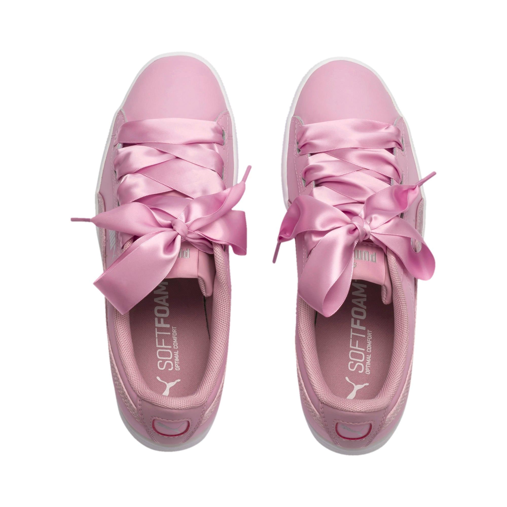 Thumbnail 6 of PUMA Vikky Ribbon Satin Sneakers JR, Pale Pink-Pale Pink, medium
