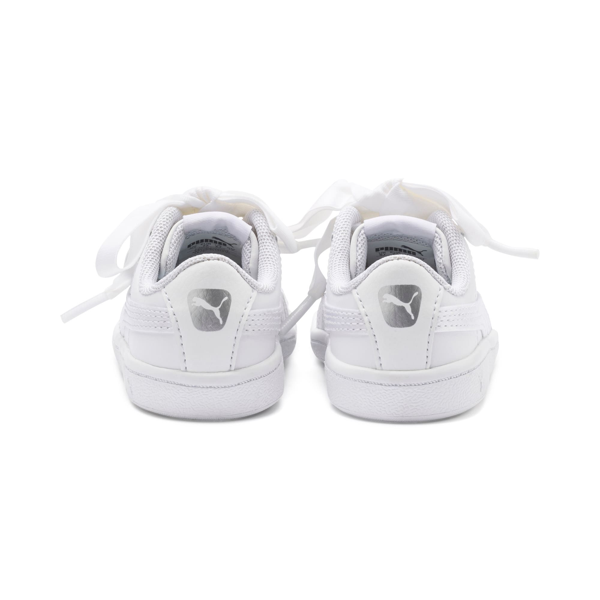 Miniatura 3 de ZapatosPUMA Vikky Ribbon Satin AC para niños, Puma White-Puma White, mediano