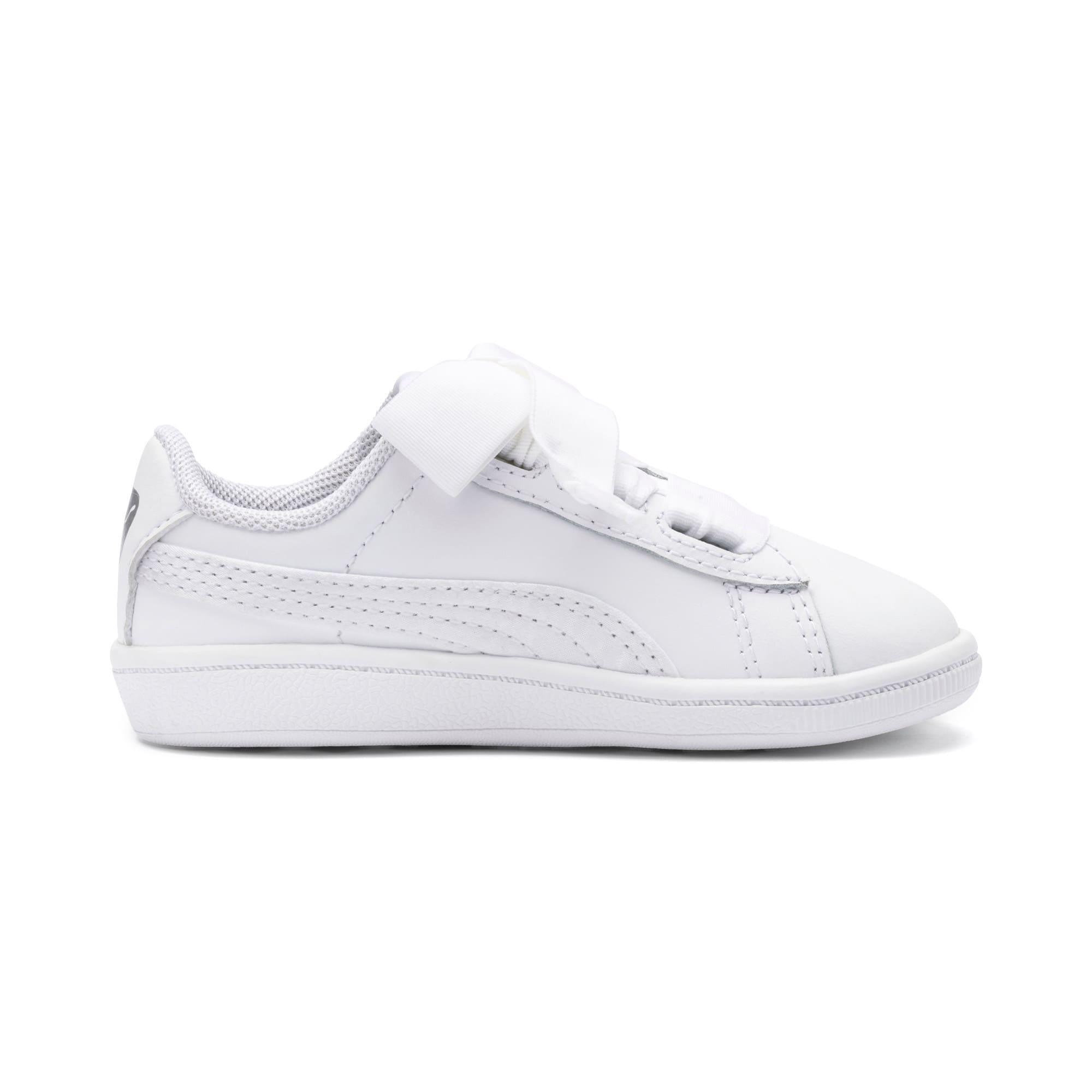Miniatura 5 de ZapatosPUMA Vikky Ribbon Satin AC para niños, Puma White-Puma White, mediano