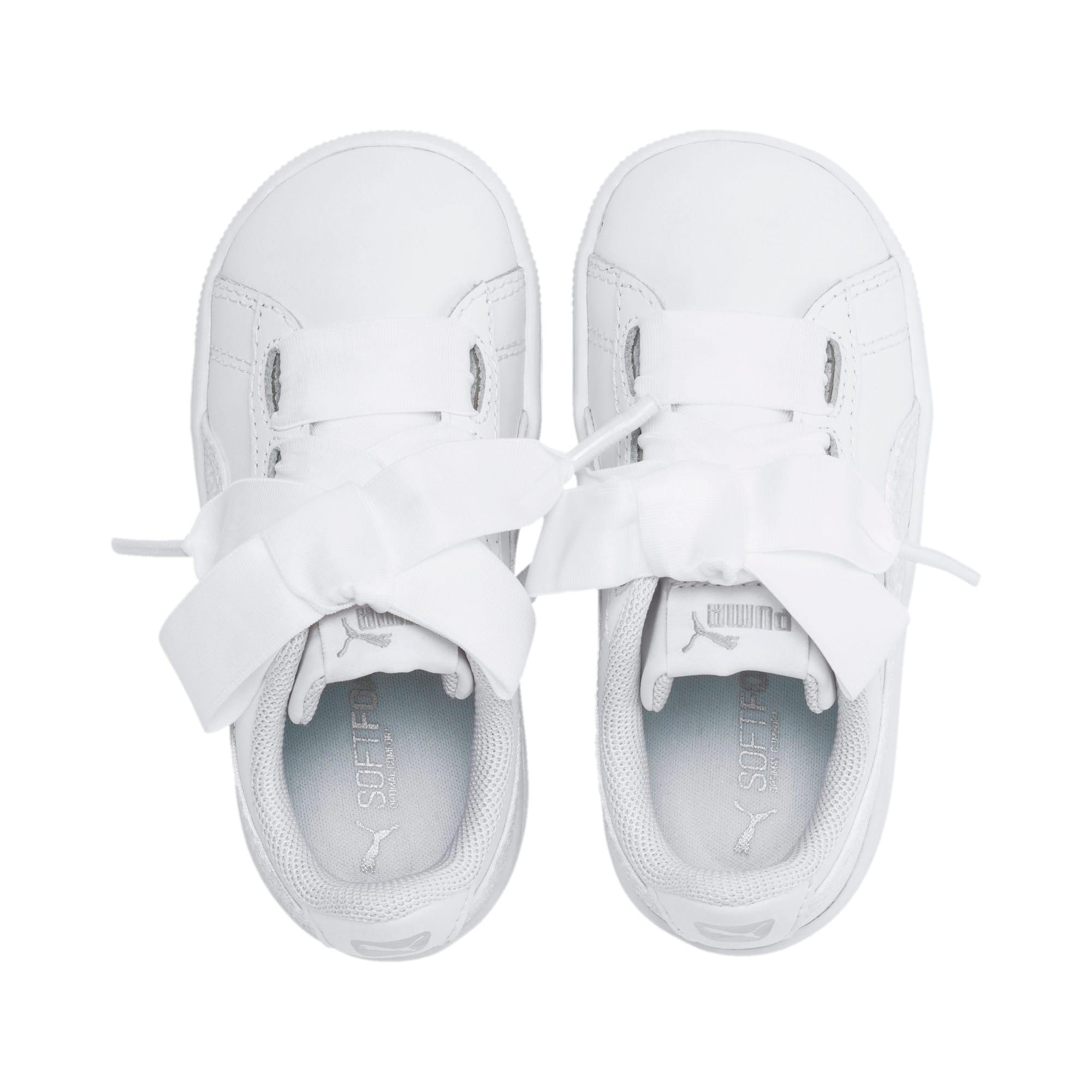 Miniatura 6 de ZapatosPUMA Vikky Ribbon Satin AC para niños, Puma White-Puma White, mediano