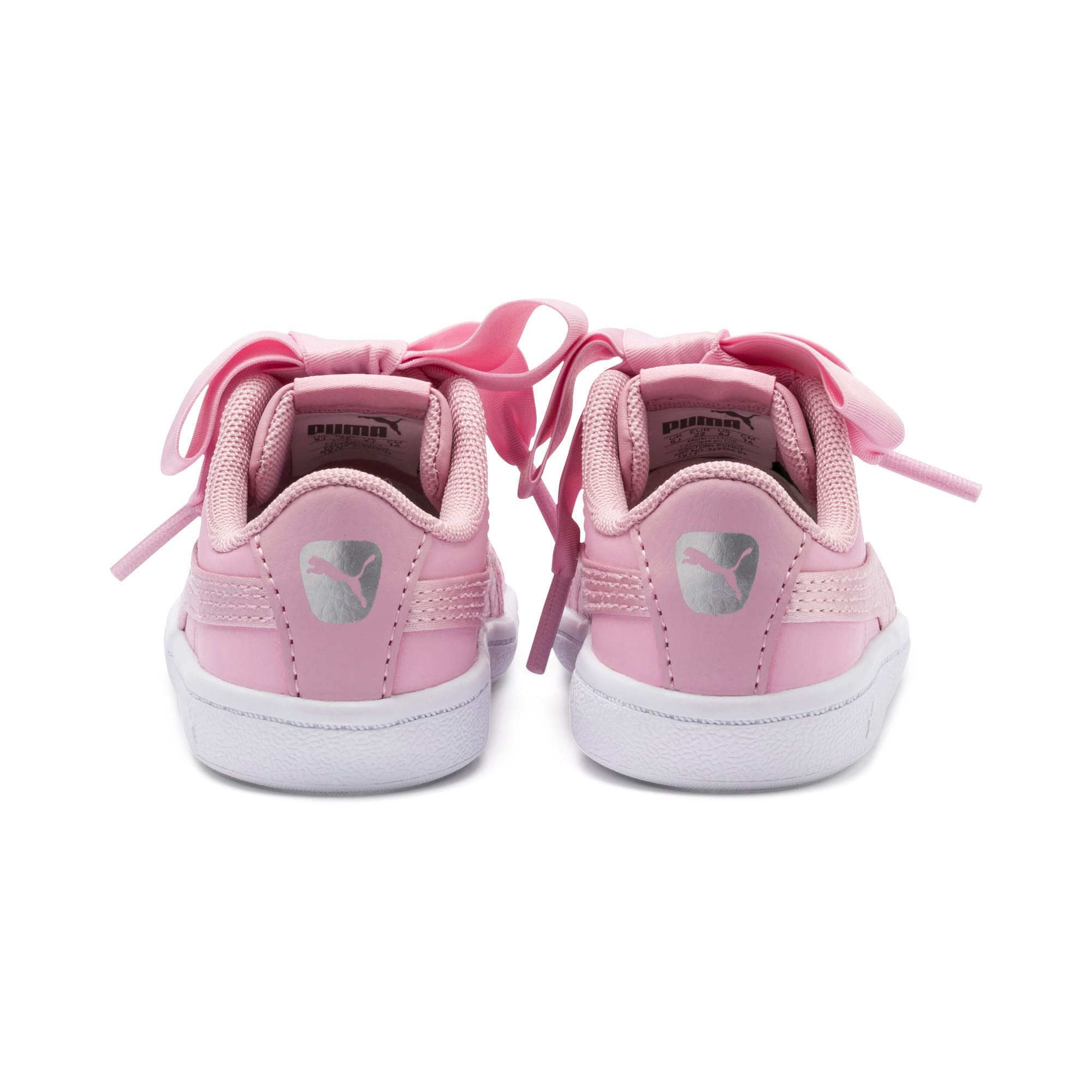 Miniatura 3 de ZapatosPUMA Vikky Ribbon Satin AC para niños, Pale Pink-Pale Pink, mediano
