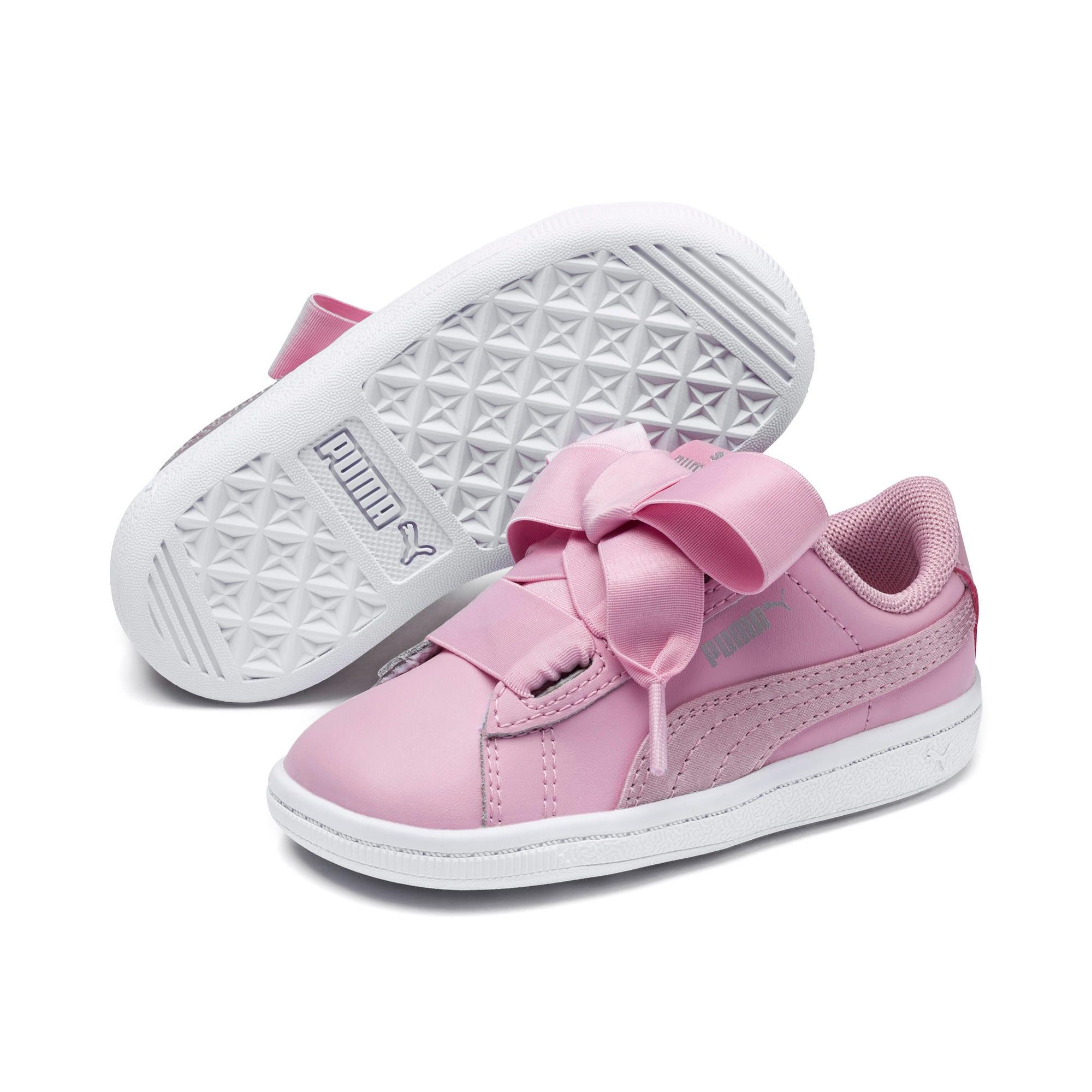Miniatura 2 de ZapatosPUMA Vikky Ribbon Satin AC para niños, Pale Pink-Pale Pink, mediano