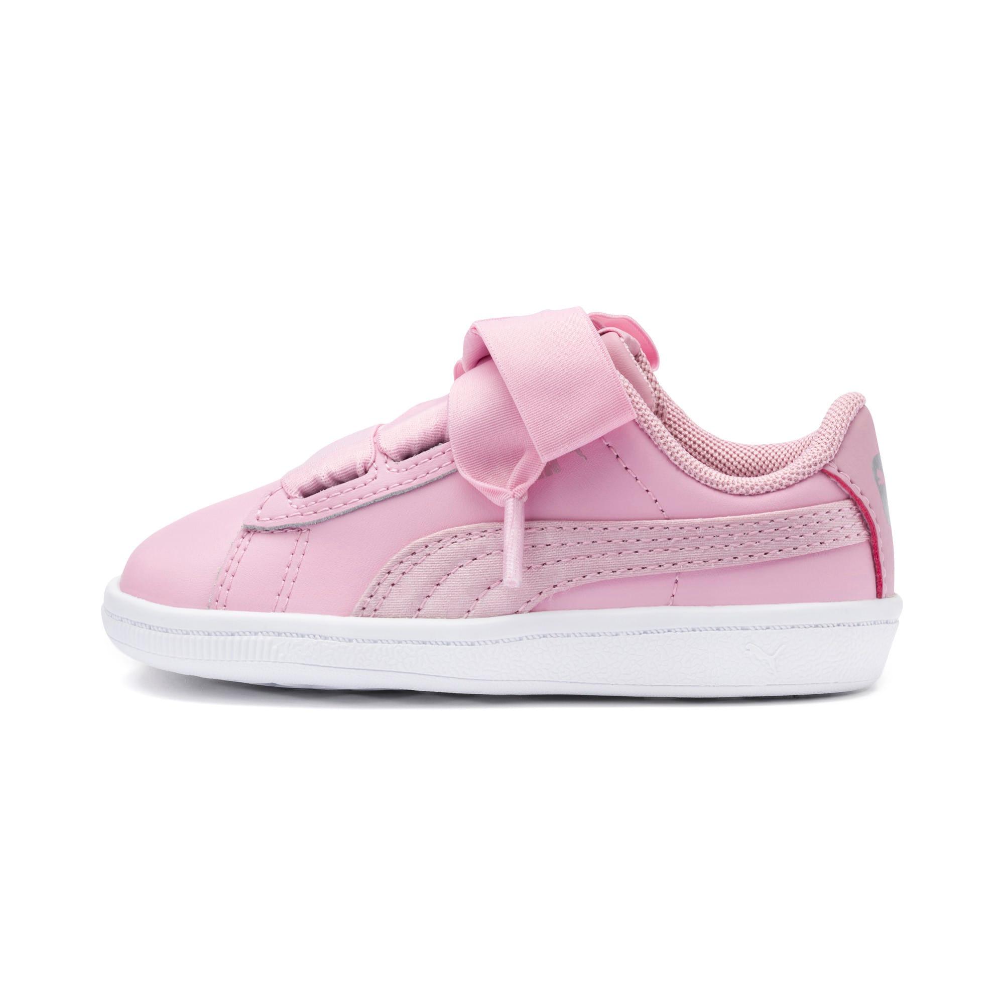 Miniatura 1 de ZapatosPUMA Vikky Ribbon Satin AC para niños, Pale Pink-Pale Pink, mediano