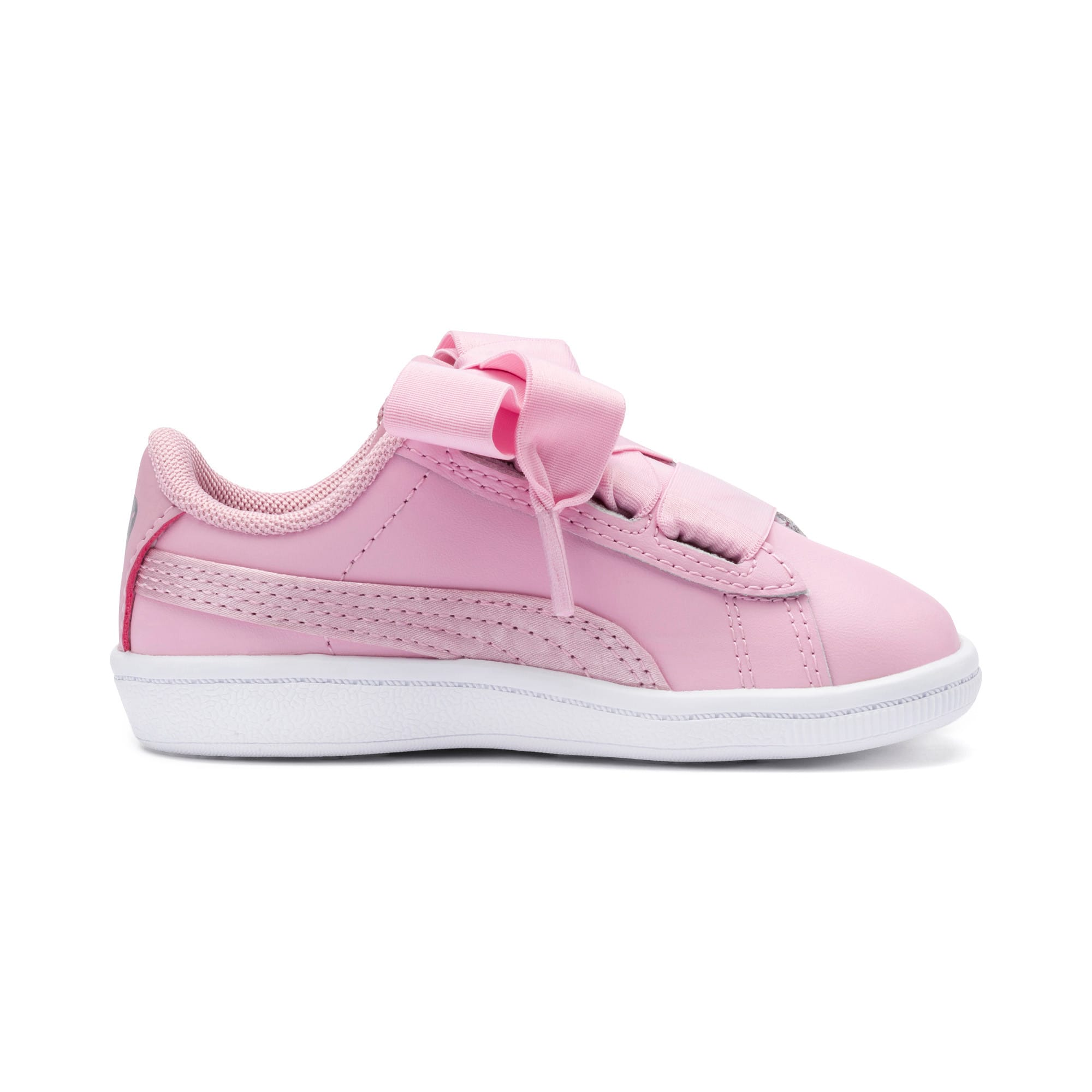 Miniatura 5 de ZapatosPUMA Vikky Ribbon Satin AC para niños, Pale Pink-Pale Pink, mediano