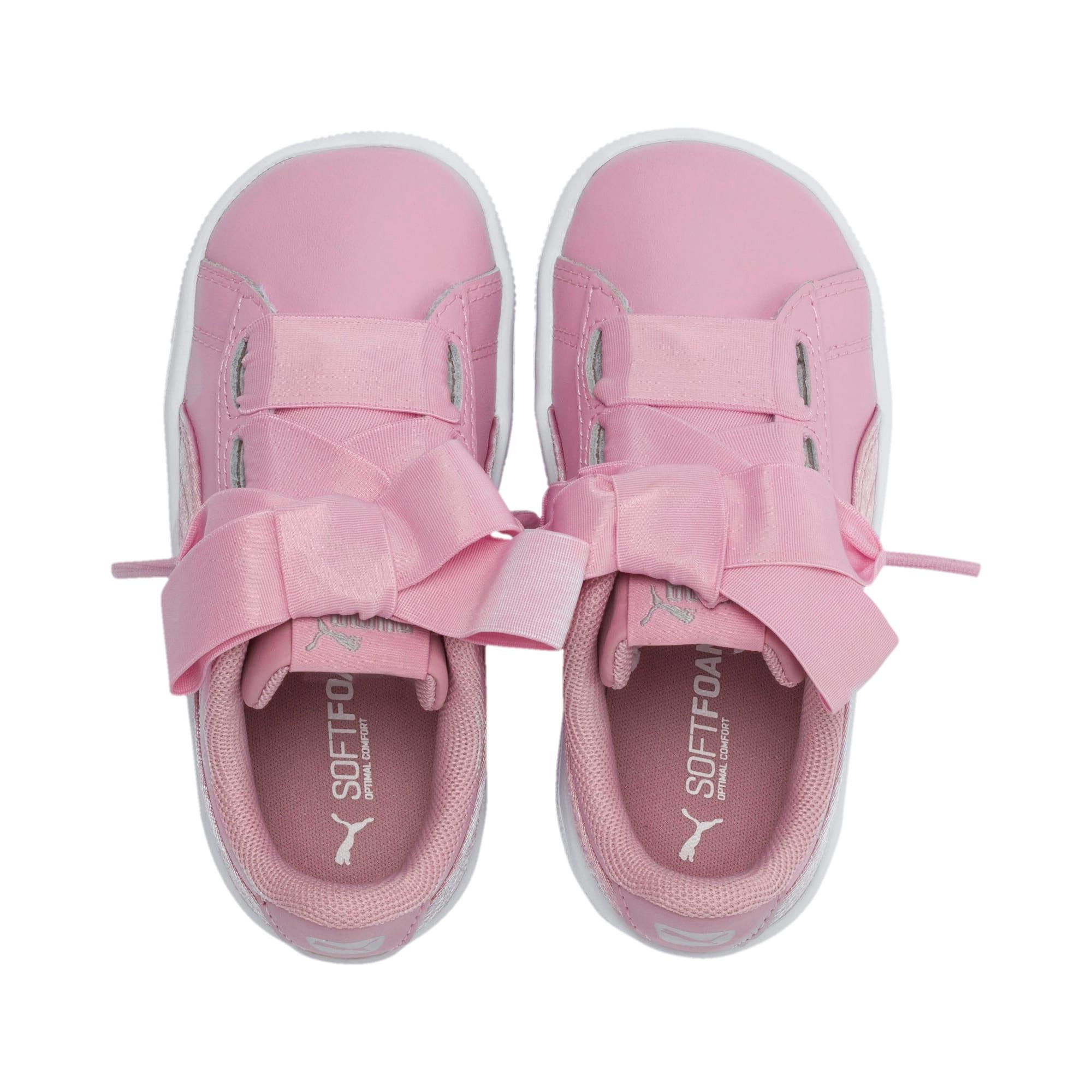 Miniatura 6 de ZapatosPUMA Vikky Ribbon Satin AC para niños, Pale Pink-Pale Pink, mediano