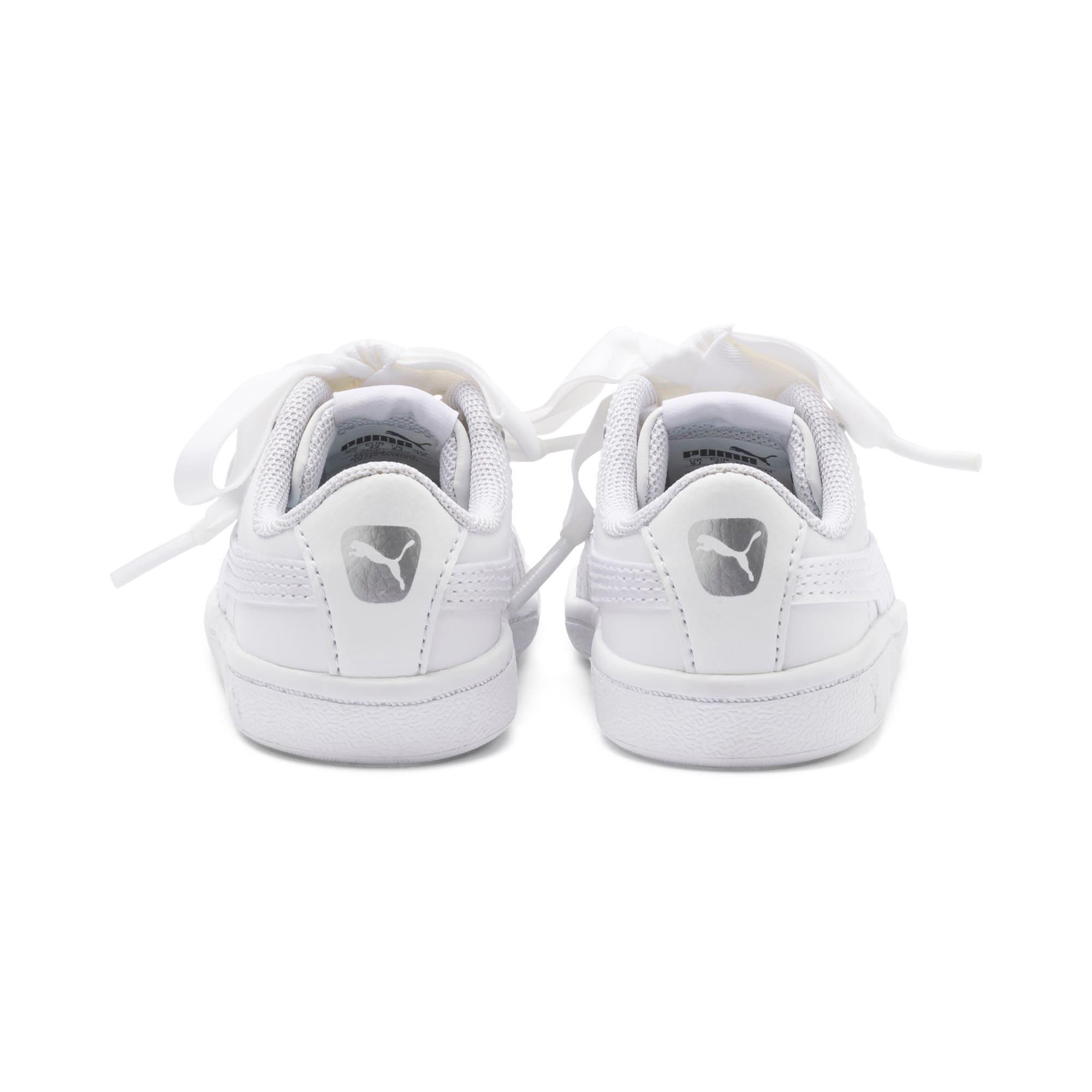 Miniatura 3 de ZapatosPUMA Vikky Ribbon Satin AC para bebés, Puma White-Puma White, mediano