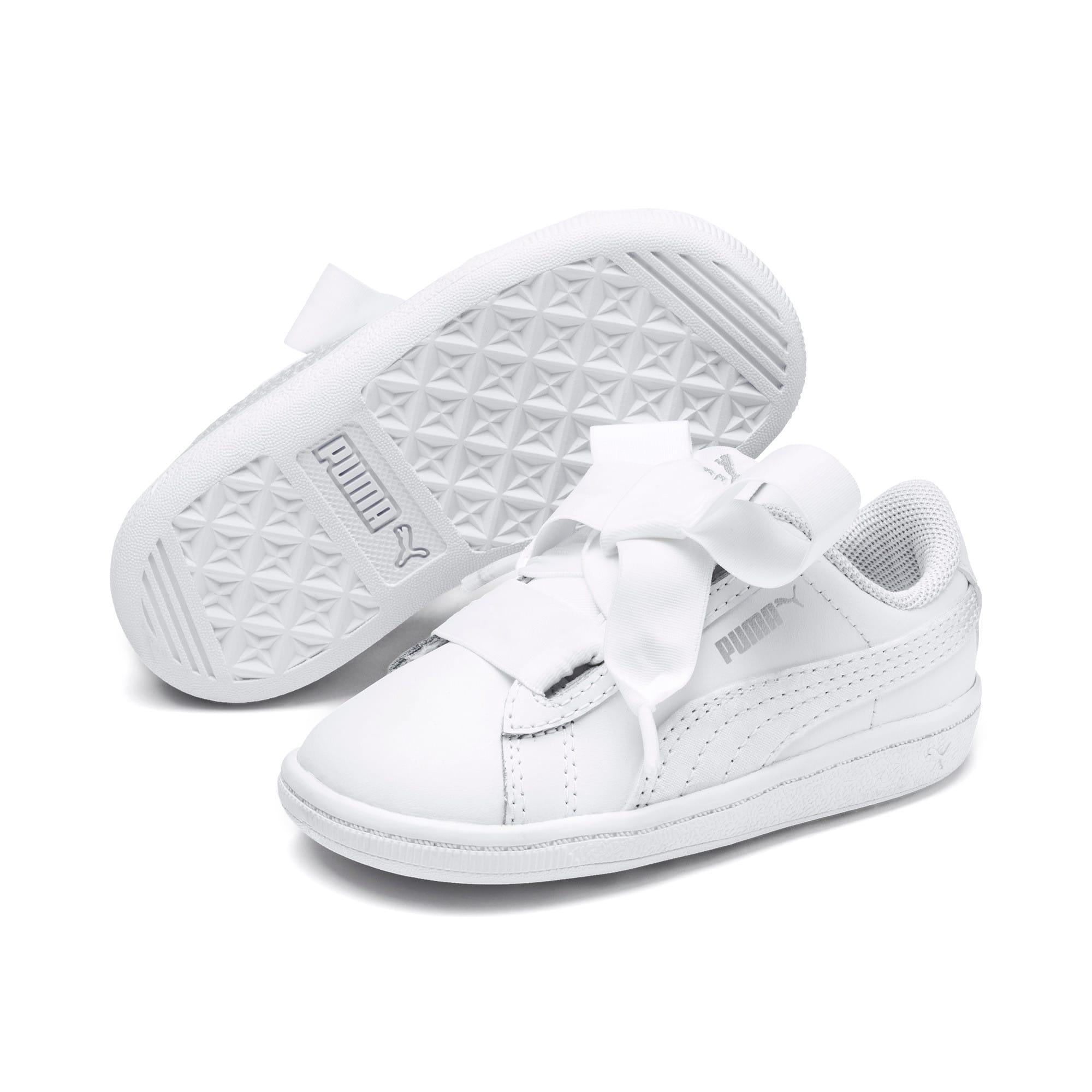 Miniatura 2 de ZapatosPUMA Vikky Ribbon Satin AC para bebés, Puma White-Puma White, mediano