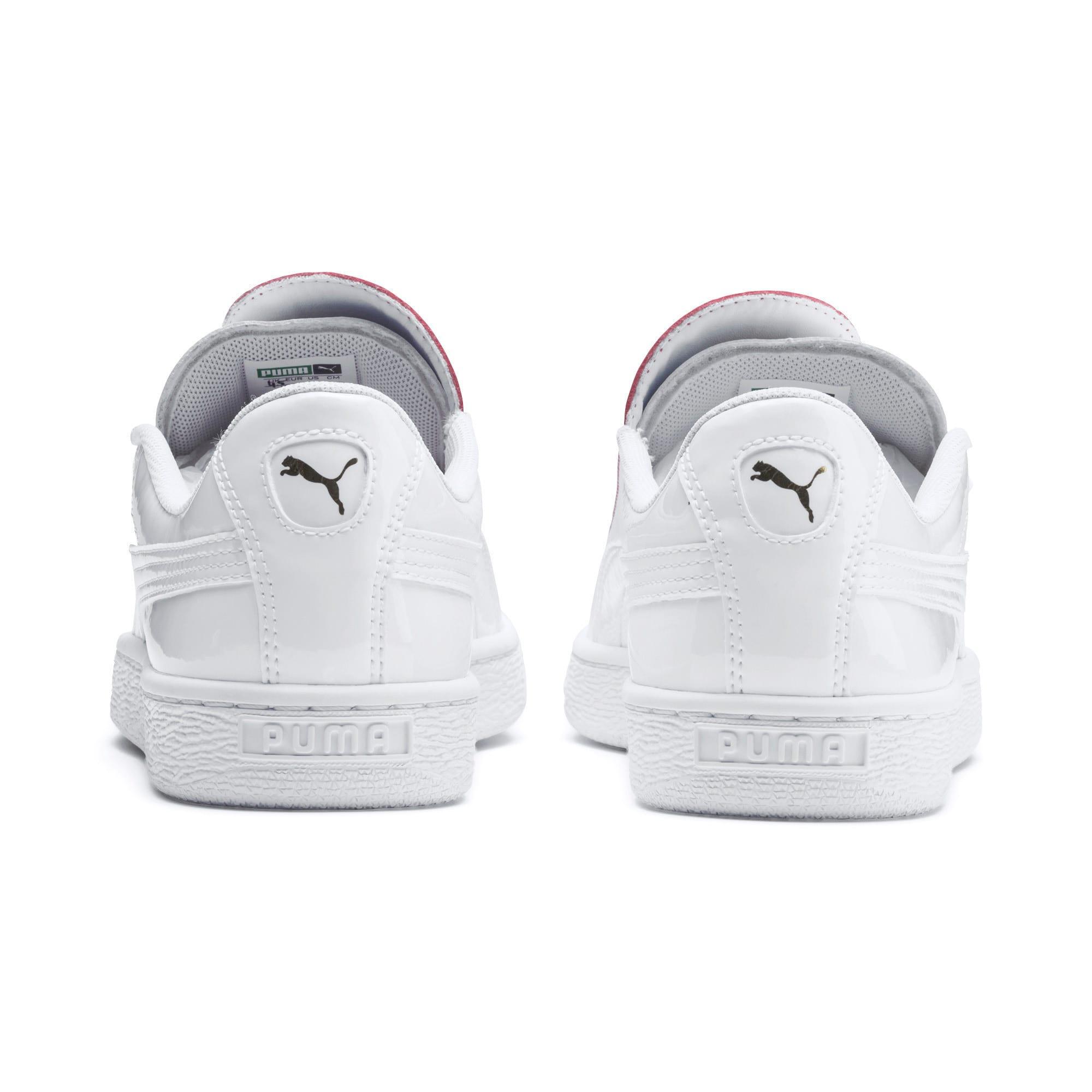 Thumbnail 4 of Basket Crush Women's Sneakers, Puma White-Hibiscus, medium