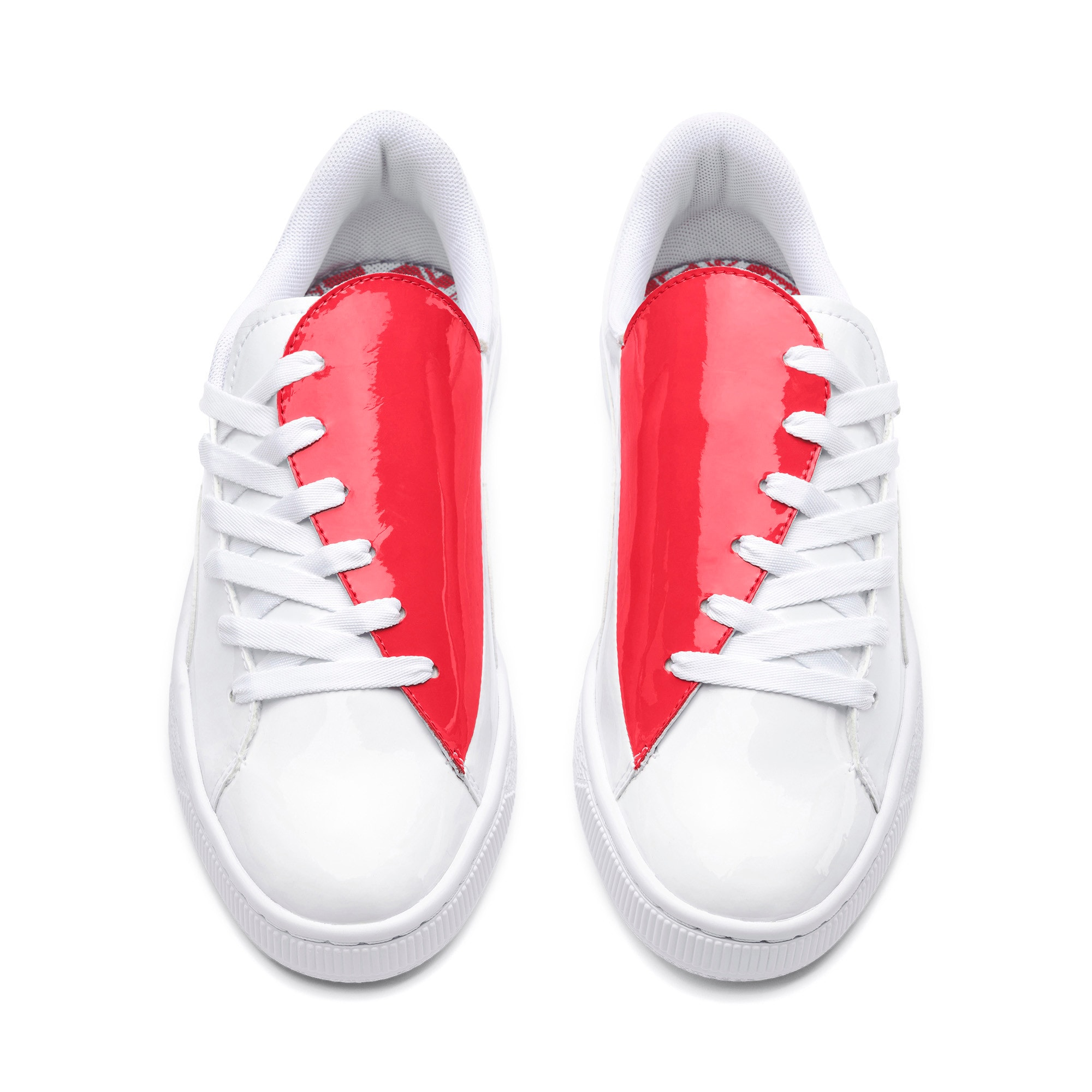 Thumbnail 3 of Basket Crush Women's Sneakers, Puma White-Hibiscus, medium