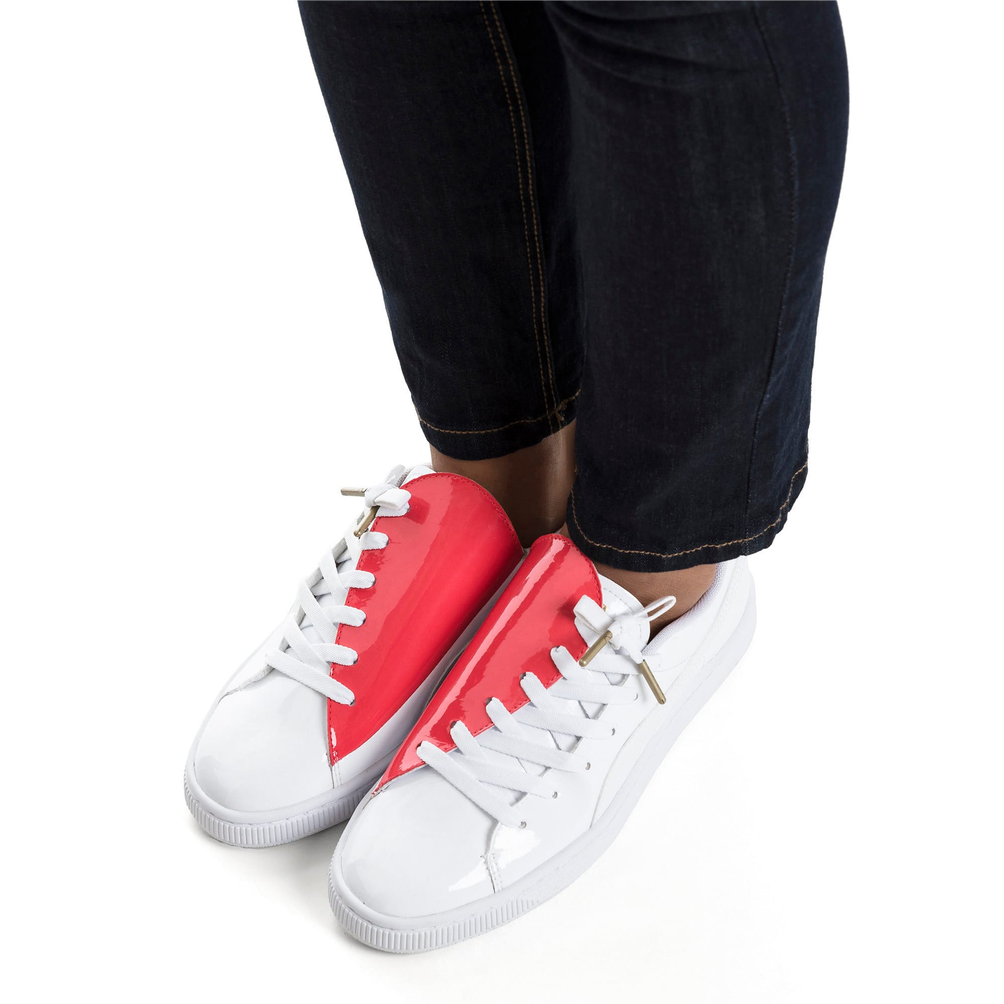 Thumbnail 2 of Basket Crush Women's Sneakers, Puma White-Hibiscus, medium