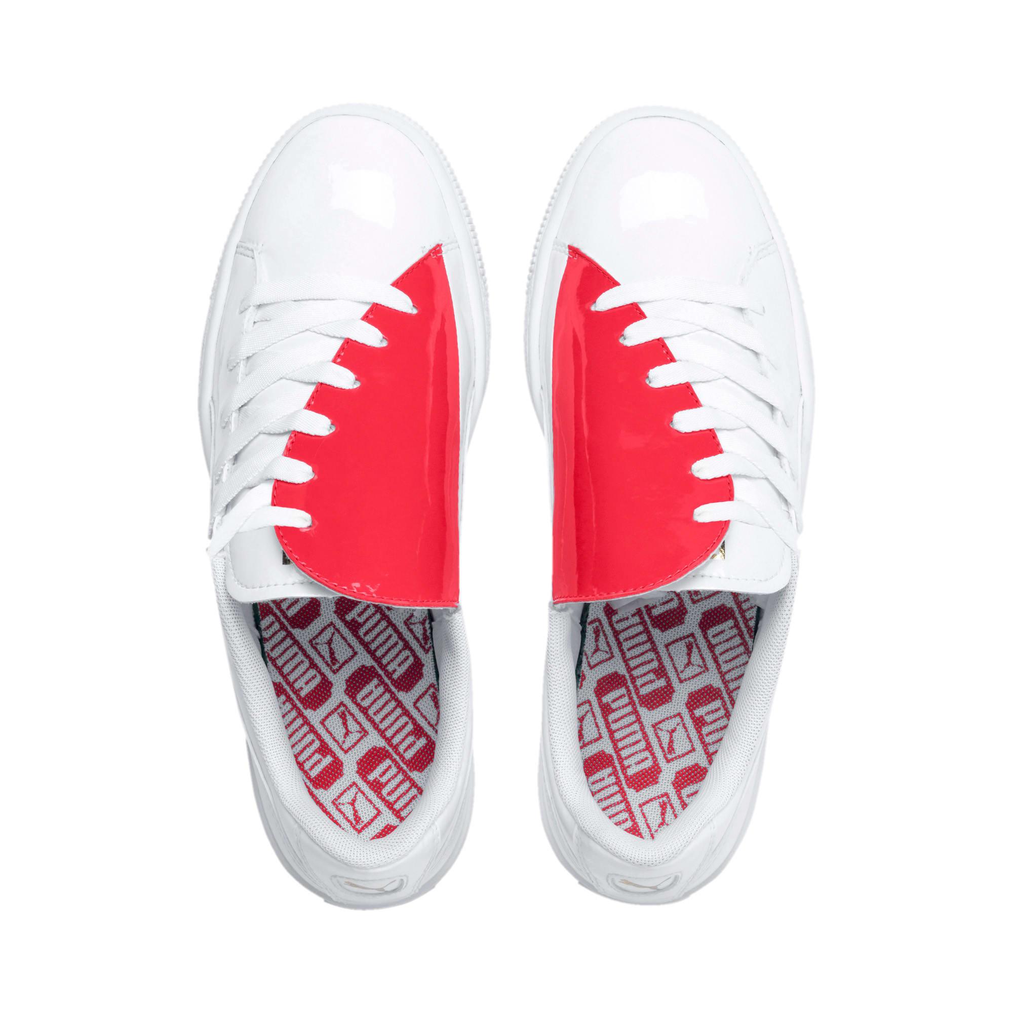 Thumbnail 7 of Basket Crush Women's Sneakers, Puma White-Hibiscus, medium