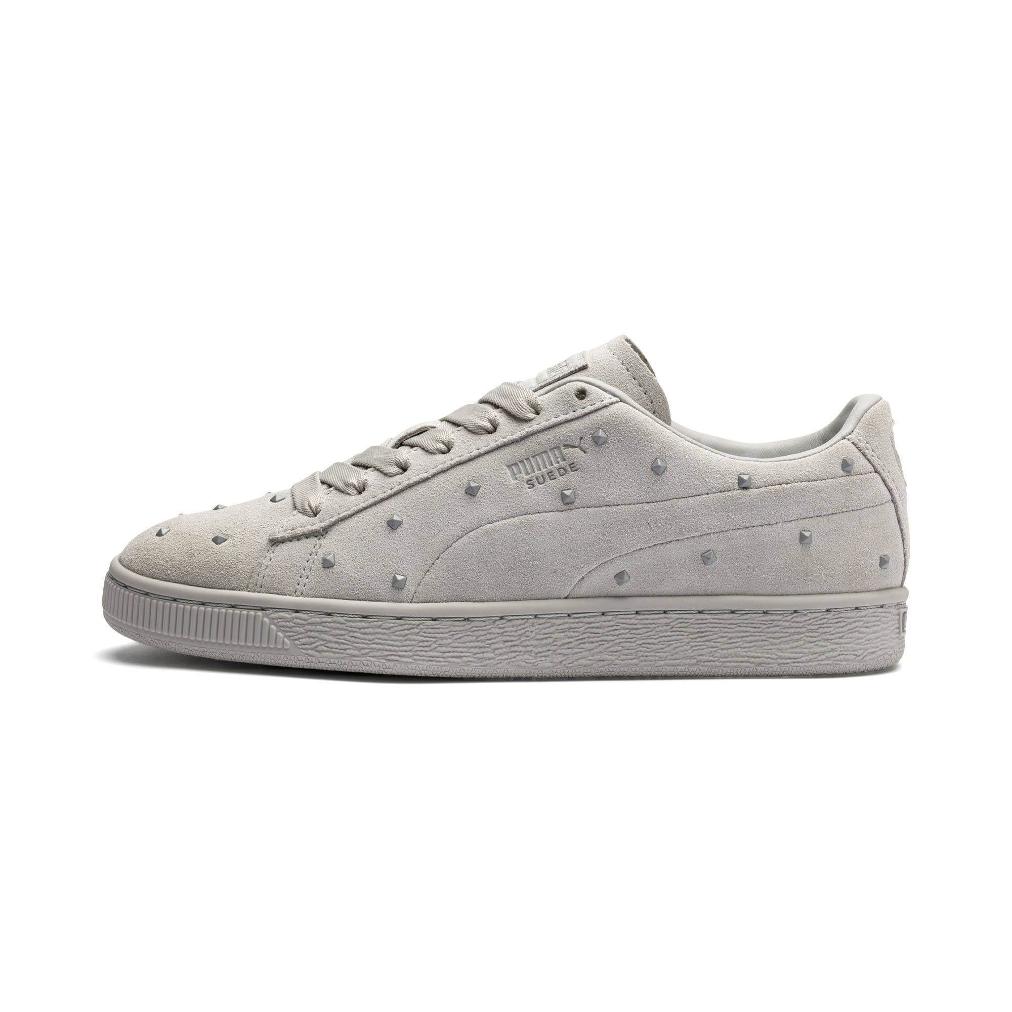Thumbnail 1 of Suede Studs Women's Trainers, Gray Violet-Puma White, medium