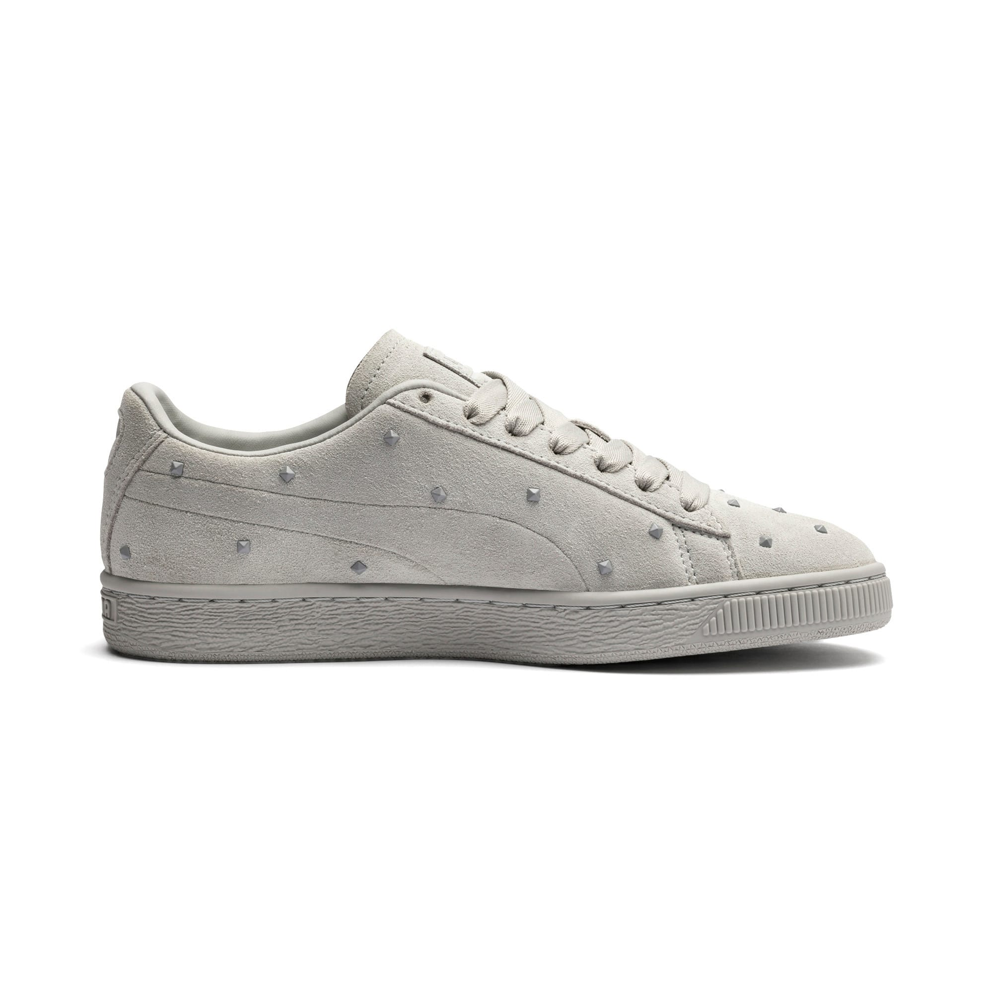 Thumbnail 6 of Suede Studs Women's Trainers, Gray Violet-Puma White, medium