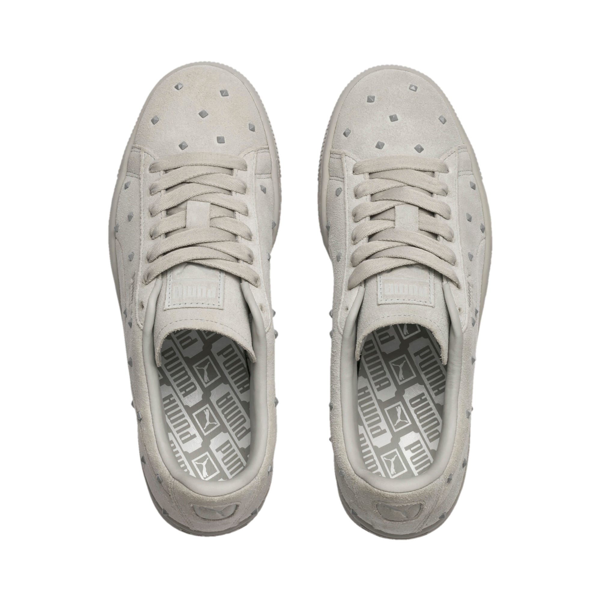 Thumbnail 7 of Suede Studs Women's Trainers, Gray Violet-Puma White, medium