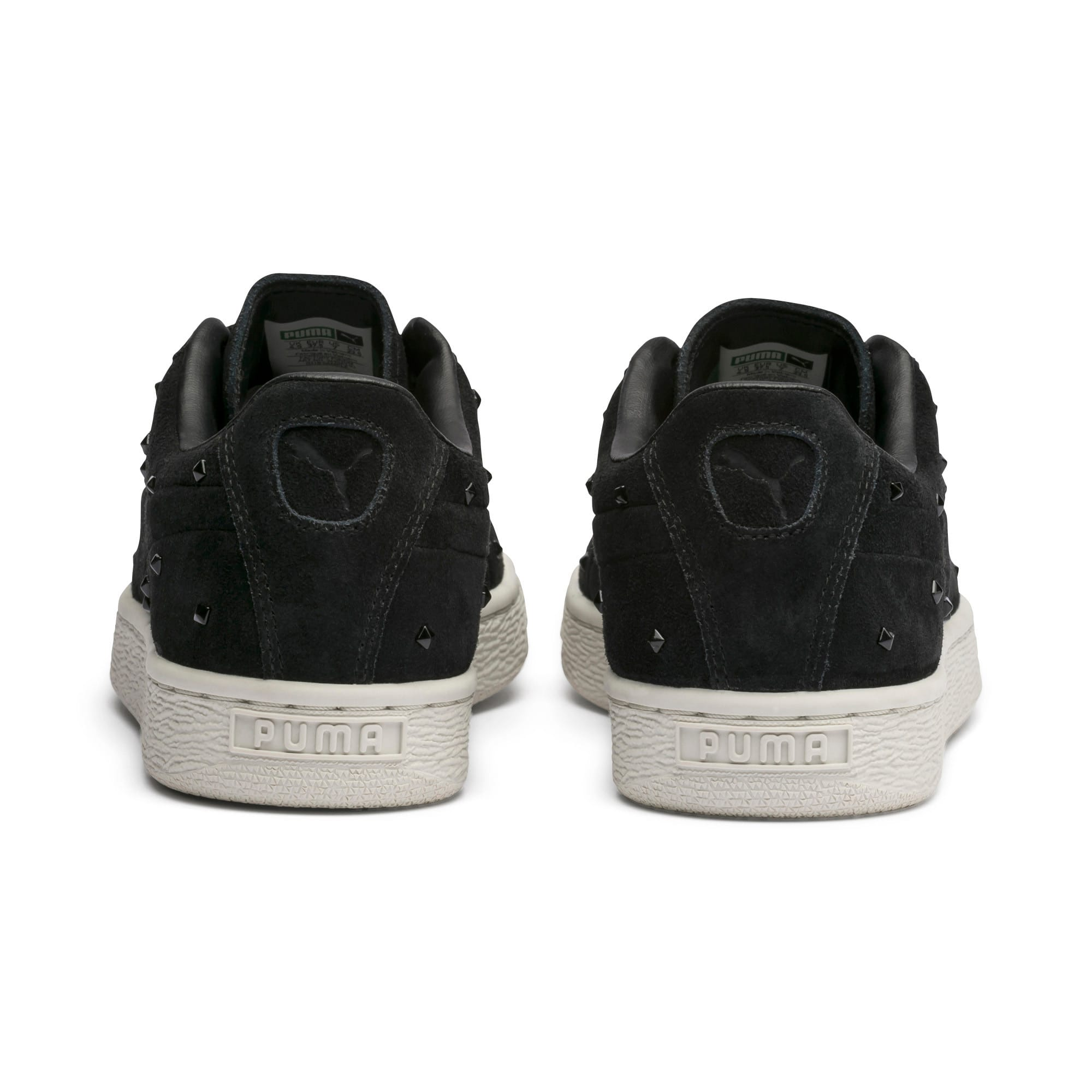 Thumbnail 4 of Suede Studs Damen Sneaker, Puma Black-Marshmallow, medium