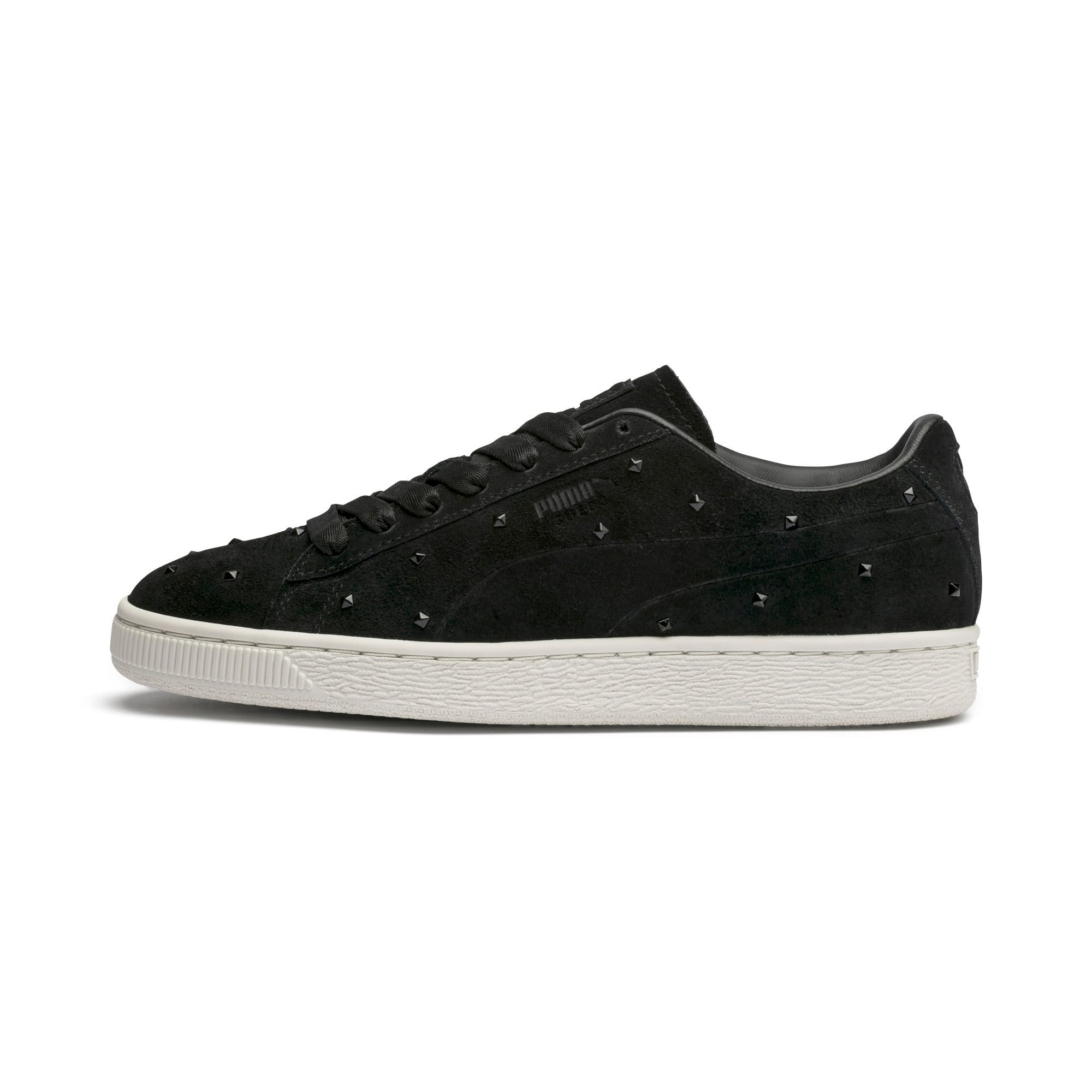 Thumbnail 1 of Suede Studs Women's Trainers, Puma Black-Marshmallow, medium