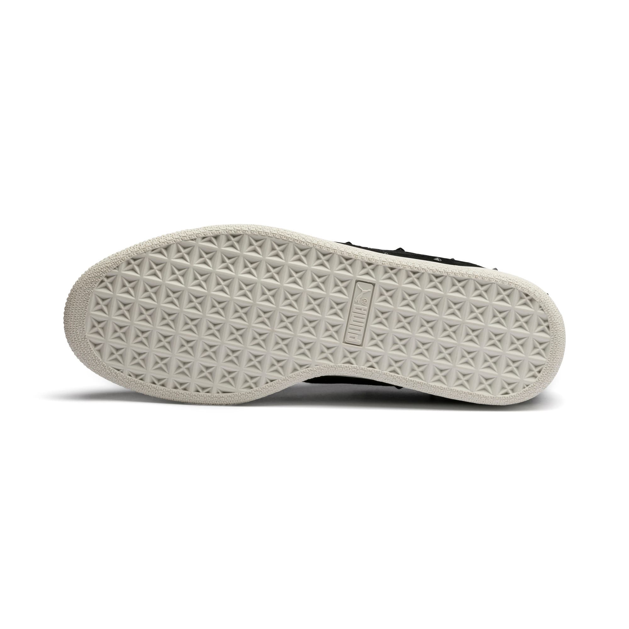 Thumbnail 5 of Suede Studs Women's Trainers, Puma Black-Marshmallow, medium