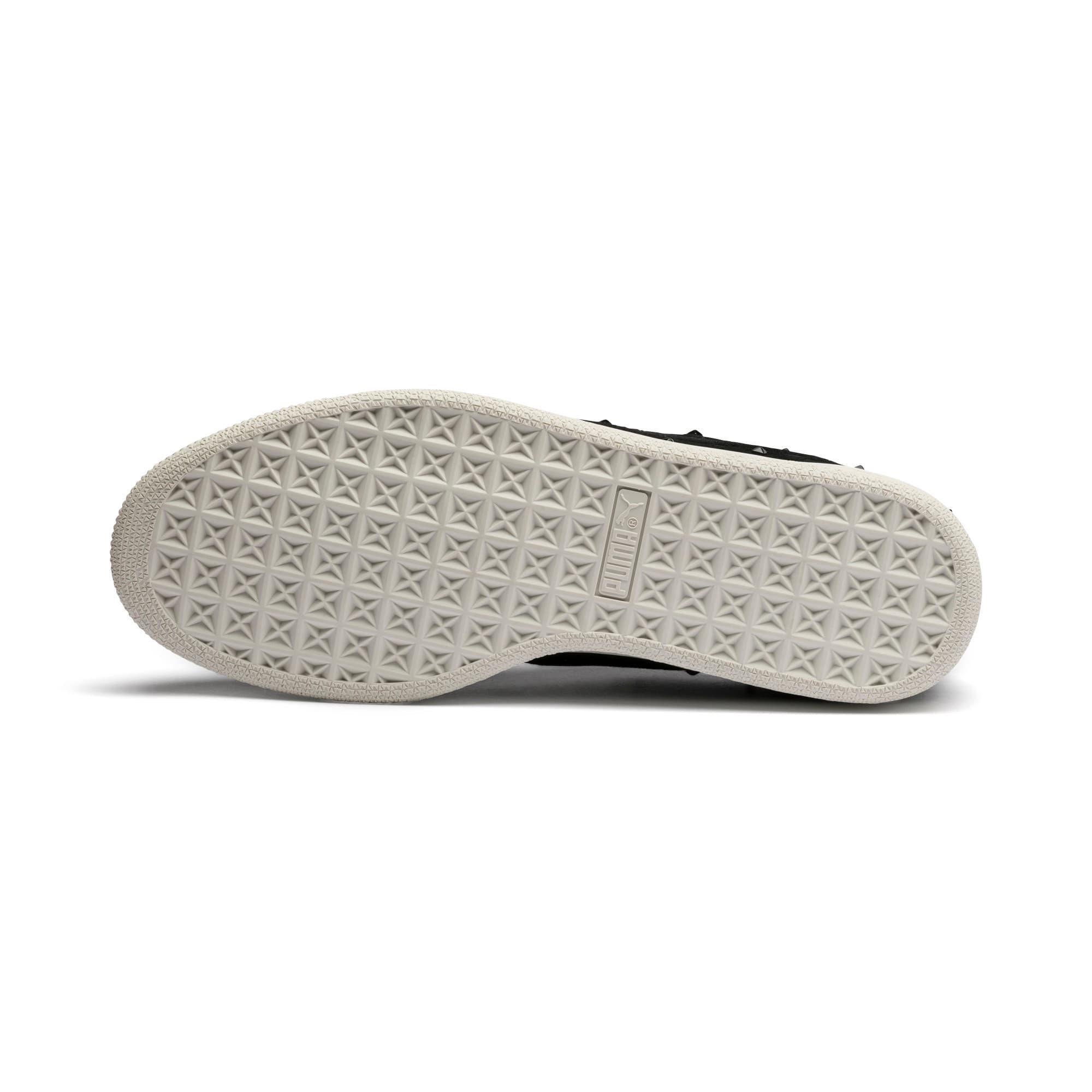 Thumbnail 5 of Suede Studs Damen Sneaker, Puma Black-Marshmallow, medium