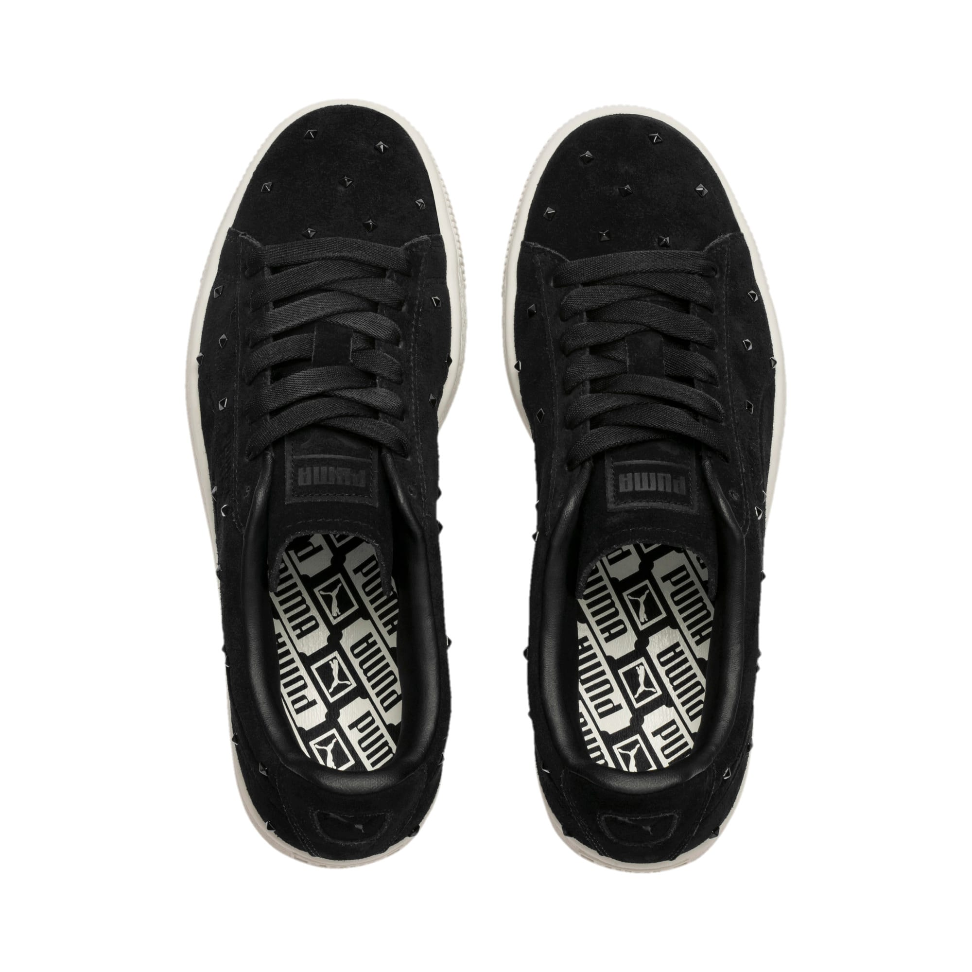 Thumbnail 7 of Suede Studs Damen Sneaker, Puma Black-Marshmallow, medium