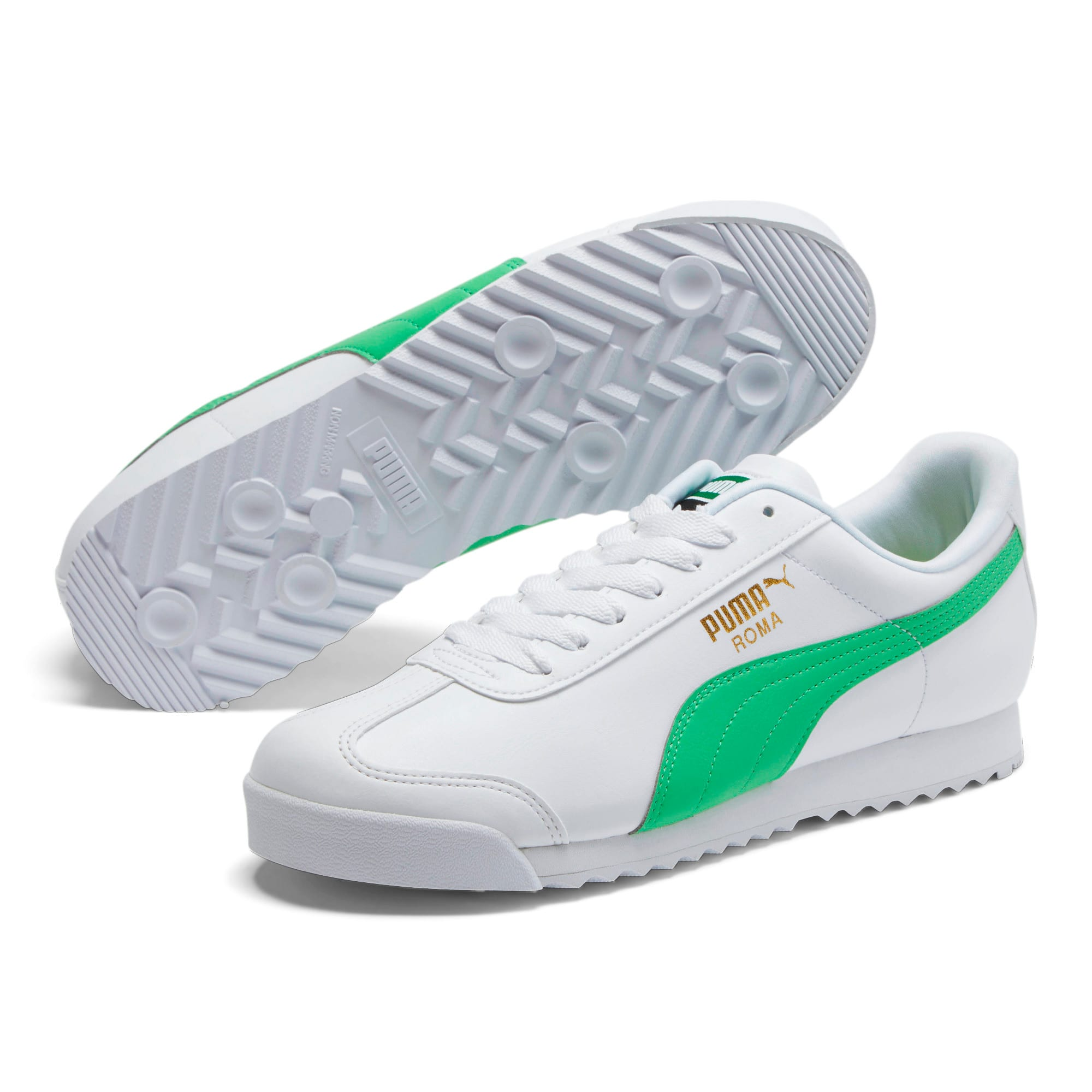 Miniatura 2 de Zapatos deportivos Roma Basic +, Puma White-Irish Green, mediano