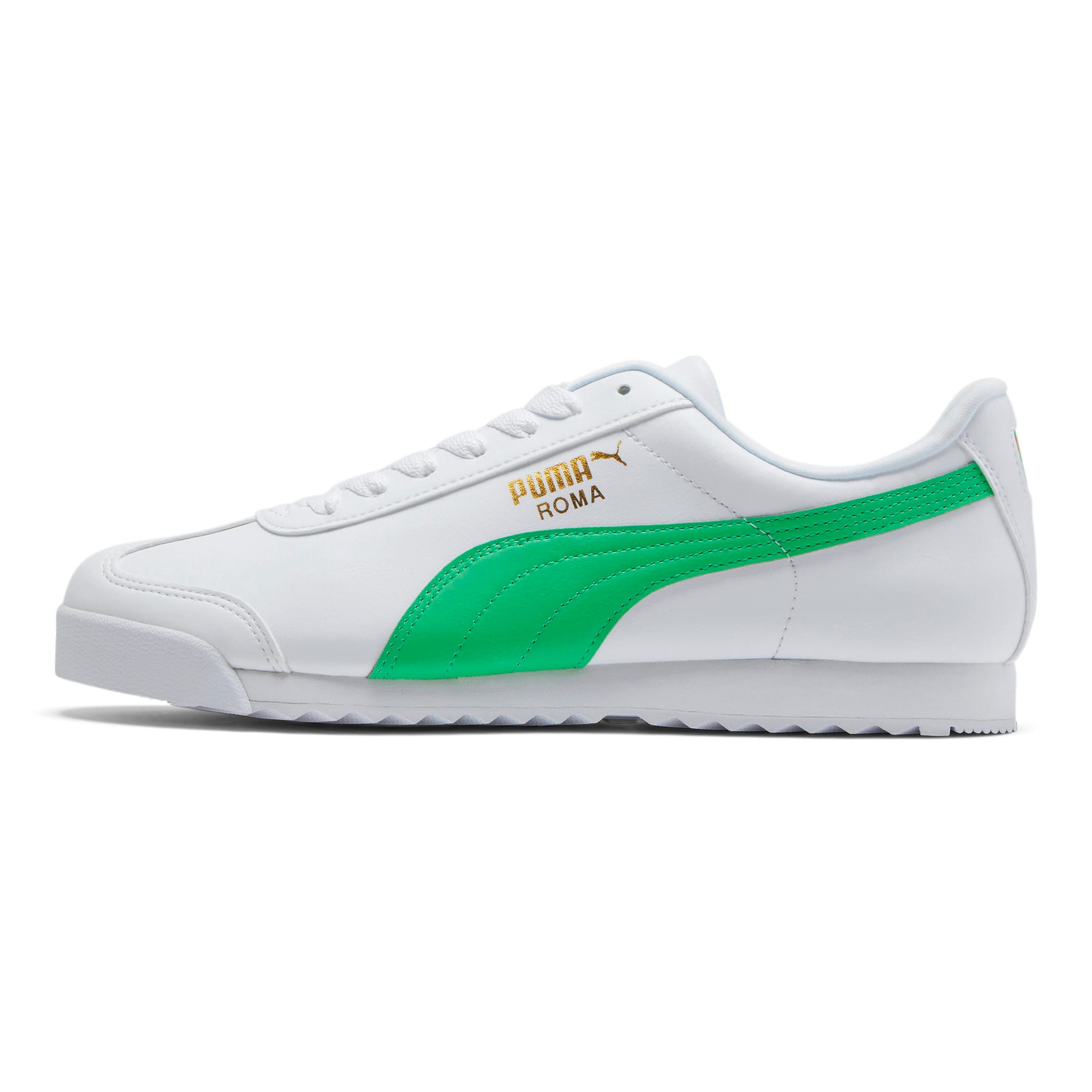 Miniatura 1 de Zapatos deportivos Roma Basic +, Puma White-Irish Green, mediano