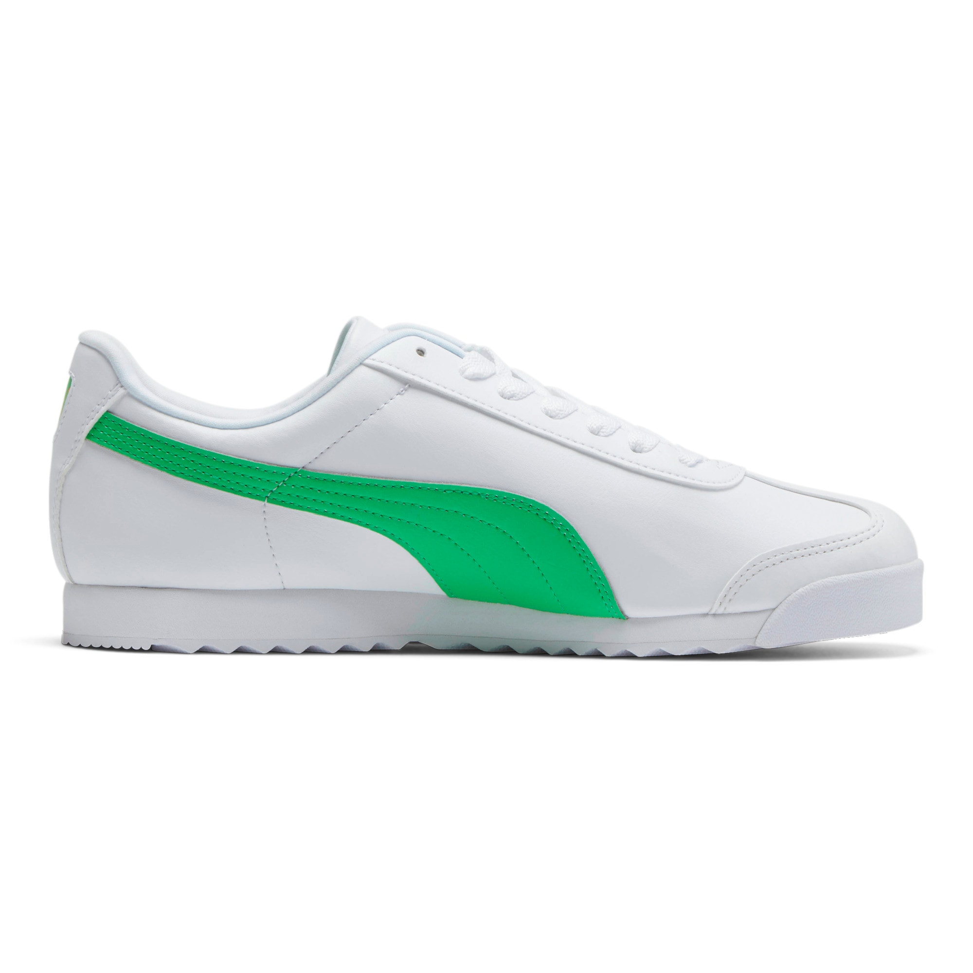Miniatura 5 de Zapatos deportivos Roma Basic +, Puma White-Irish Green, mediano