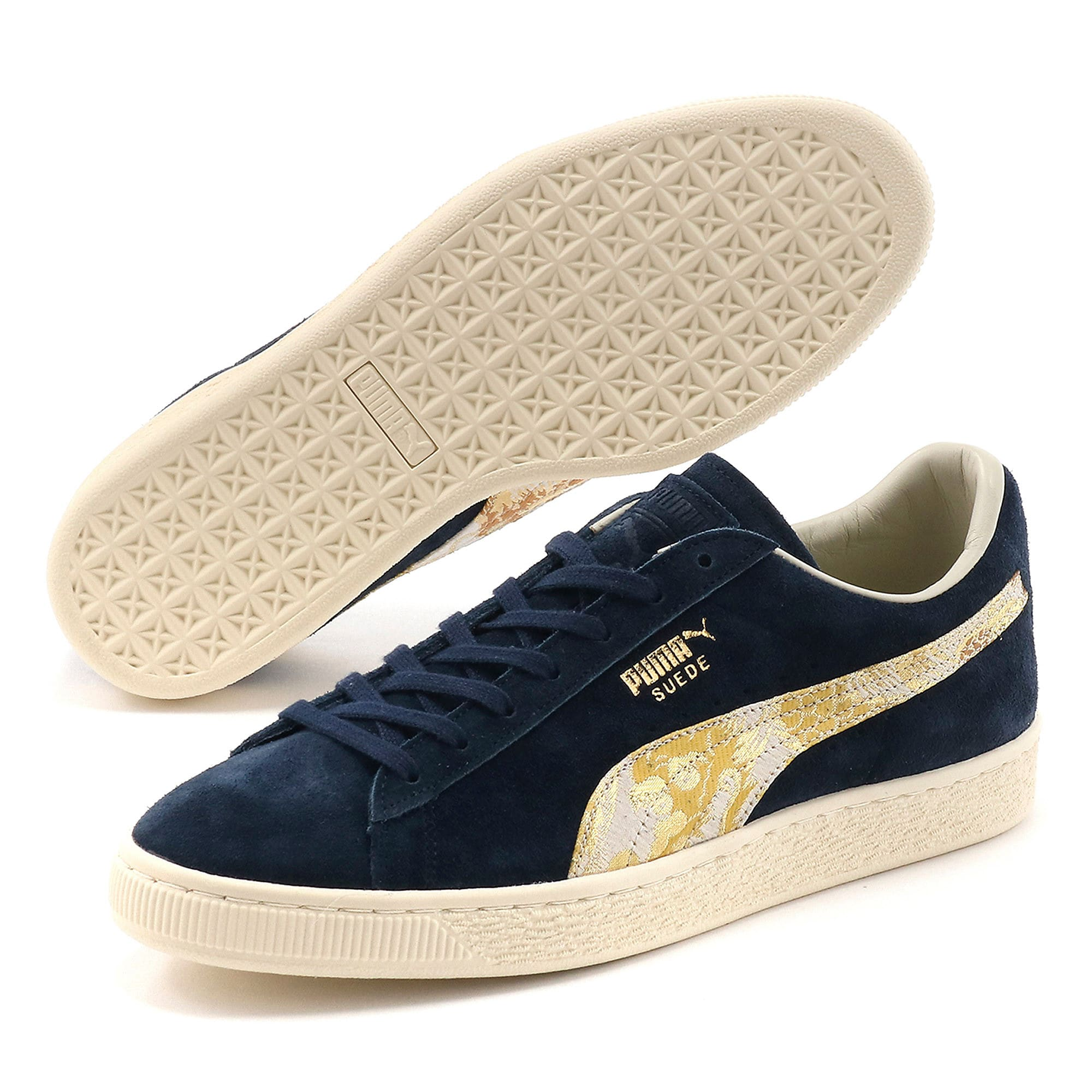 Thumbnail 2 of スウェード MIJ, Peacoat-Puma Team Gold, medium-JPN
