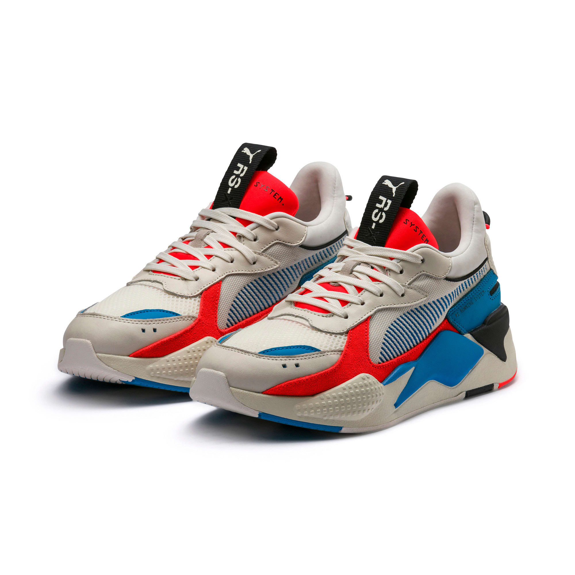 Thumbnail 2 of RS-X Reinvention Trainers, Whisper White-Red Blast, medium