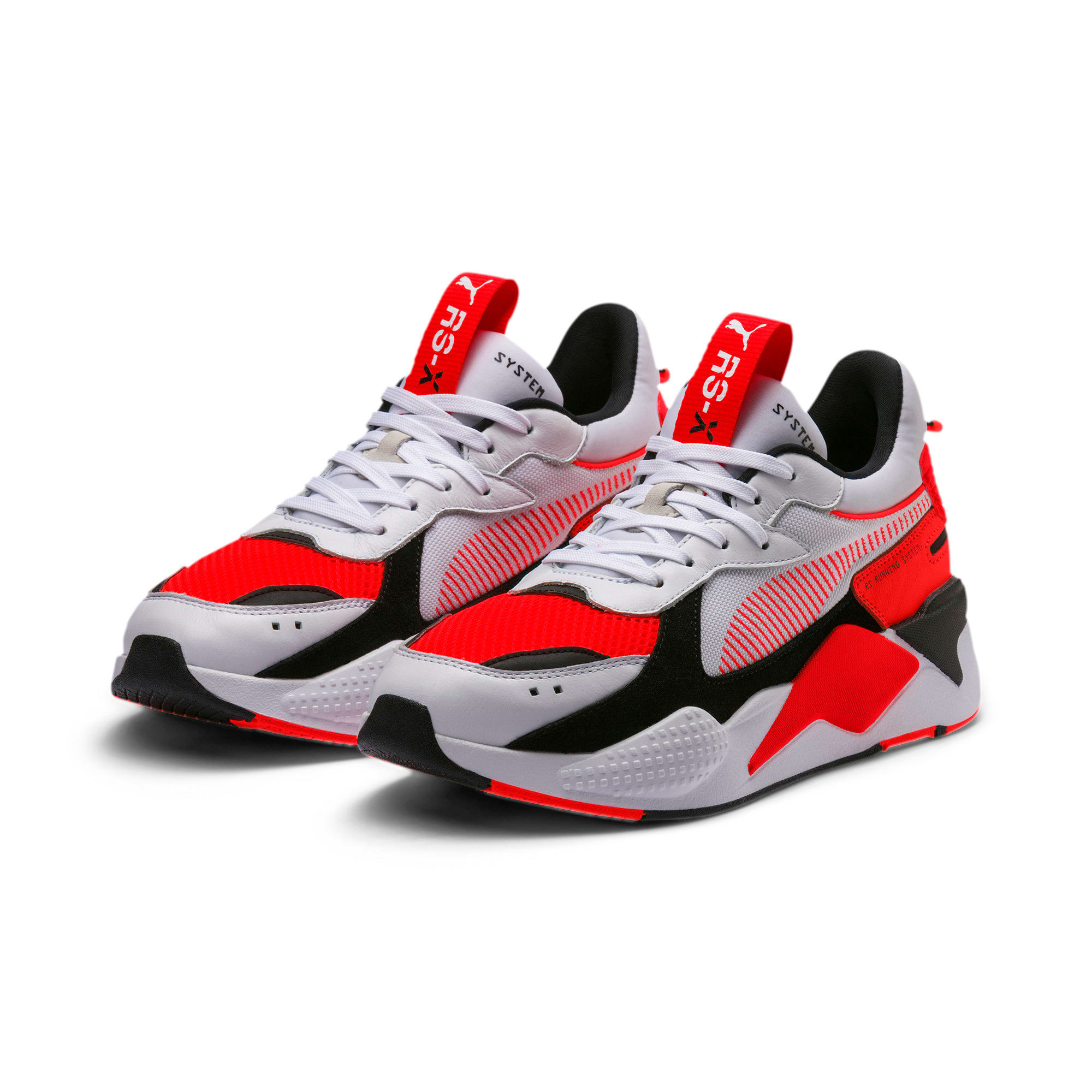 Thumbnail 4 of RS-X Reinvention Men's Sneakers, Puma White-Red Blast, medium