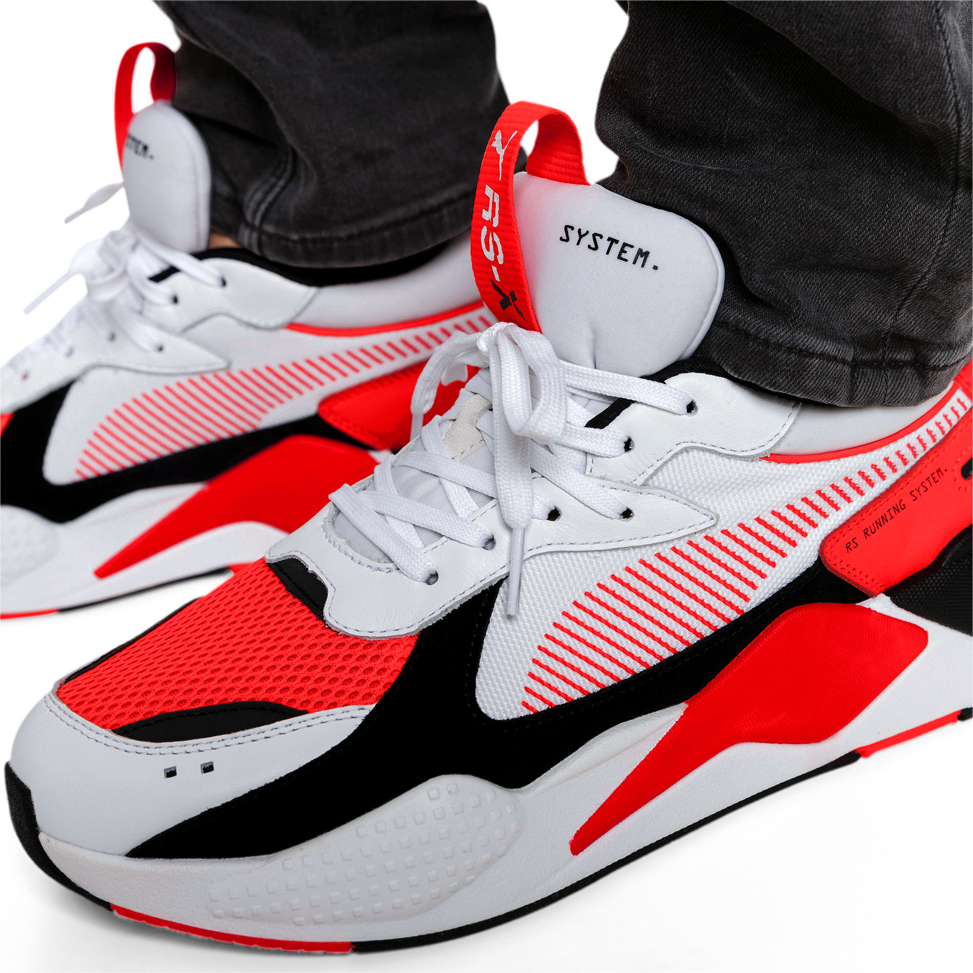 Thumbnail 3 of RS-X Reinvention Men's Sneakers, Puma White-Red Blast, medium