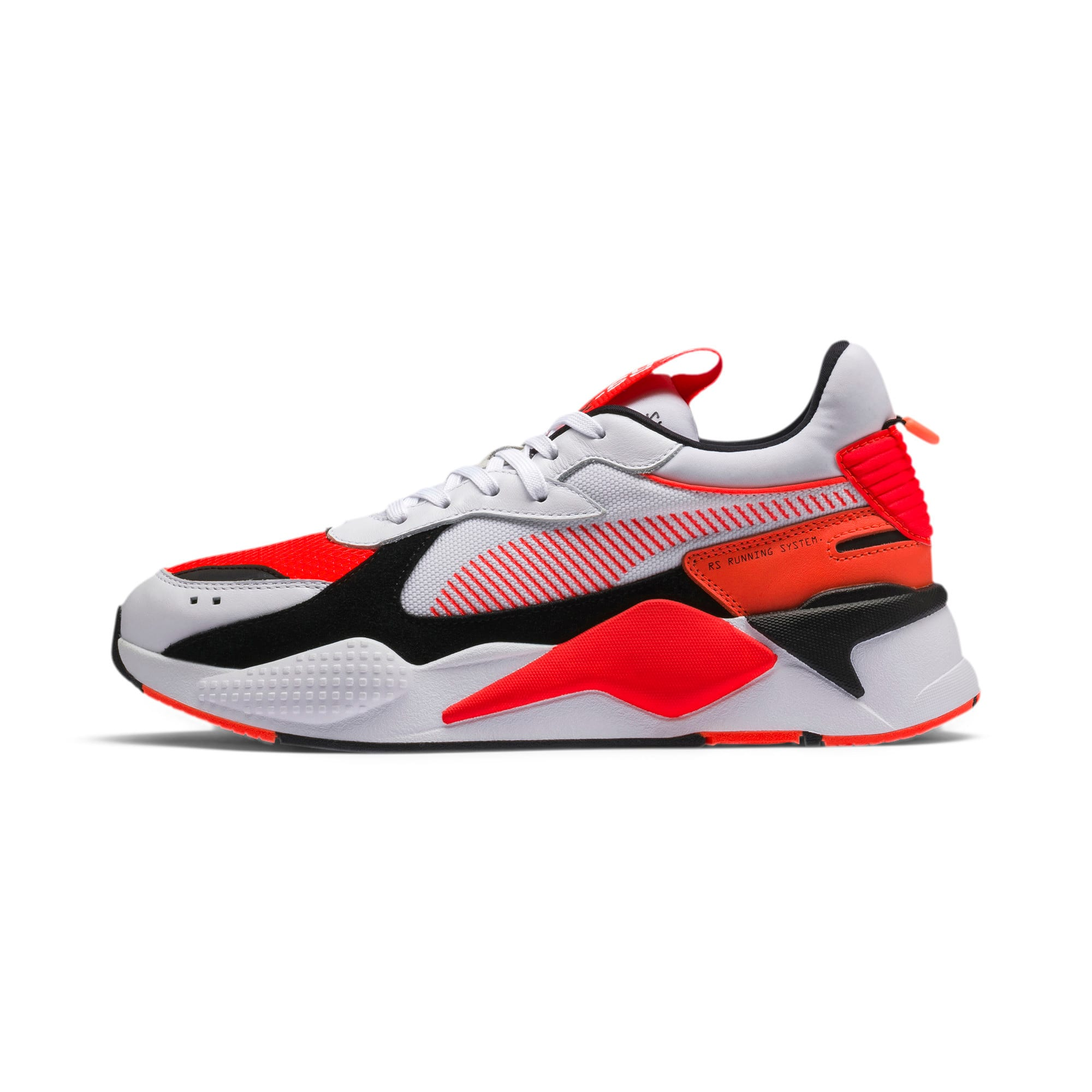 Thumbnail 1 of RS-X Reinvention Men's Sneakers, Puma White-Red Blast, medium