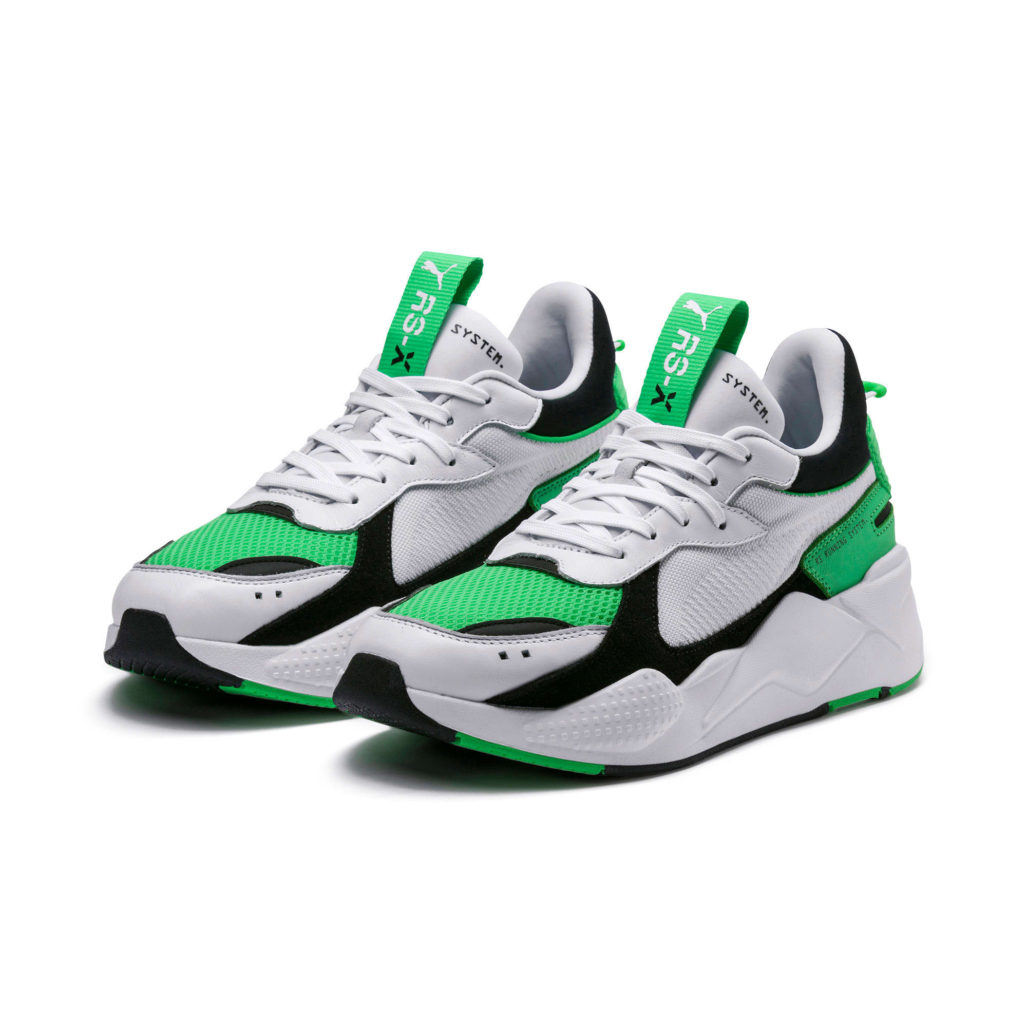 Thumbnail 3 of RS-X Reinvention Trainers, Puma White-Irish Green, medium