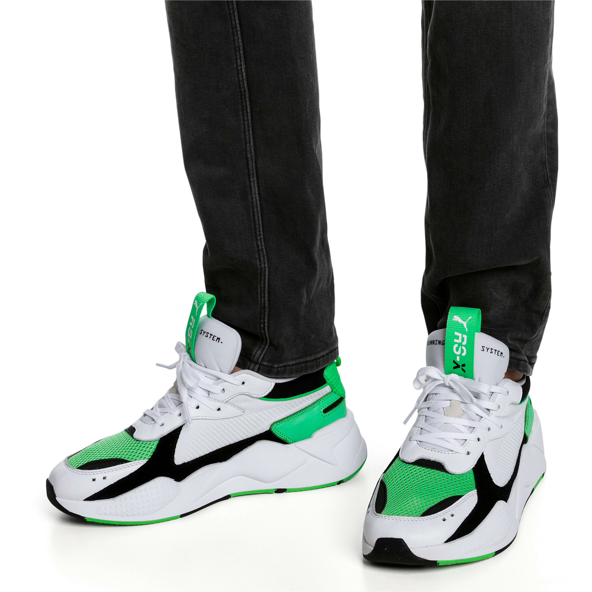 Thumbnail 2 of RS-X Reinvention Trainers, Puma White-Irish Green, medium