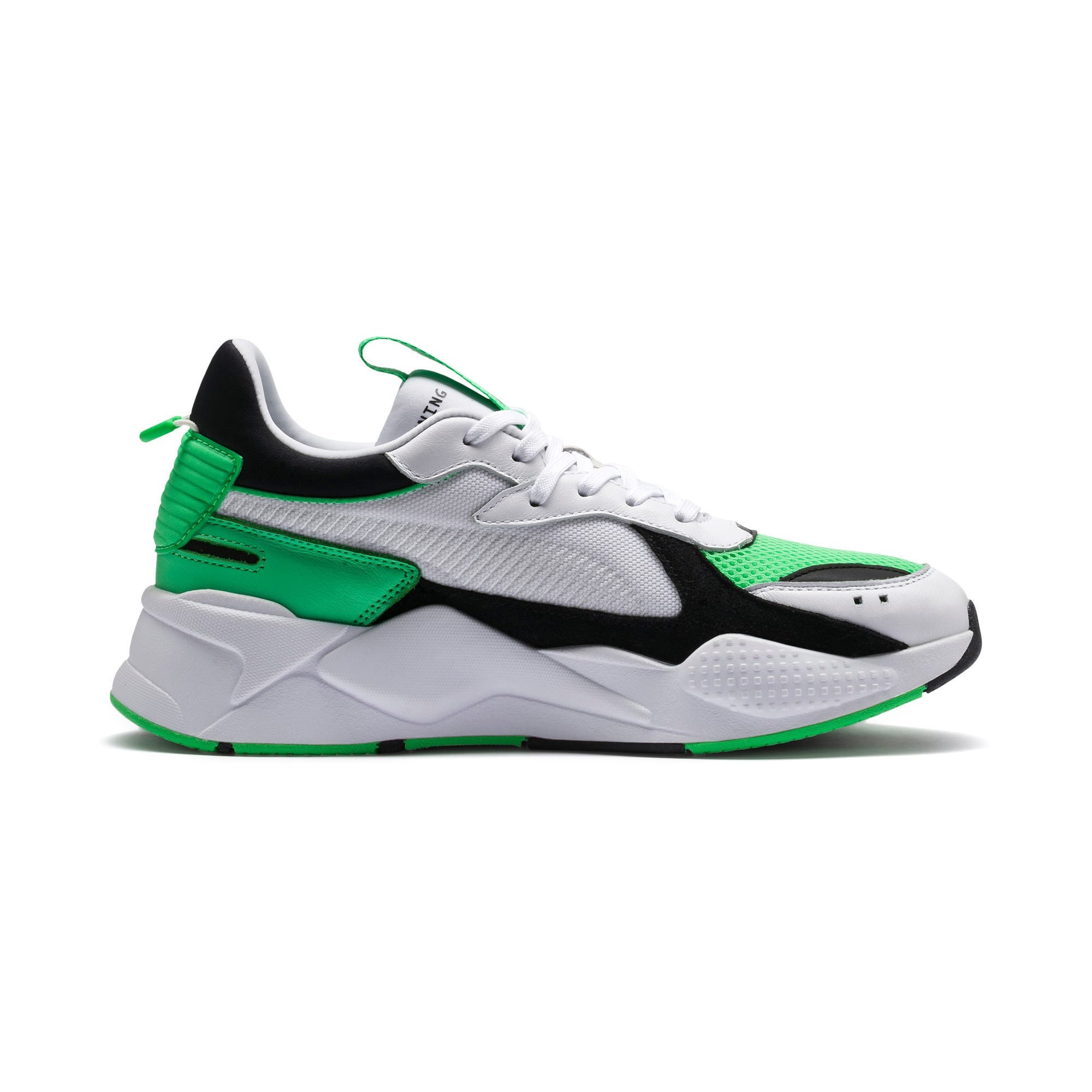 Thumbnail 6 of RS-X Reinvention Trainers, Puma White-Irish Green, medium