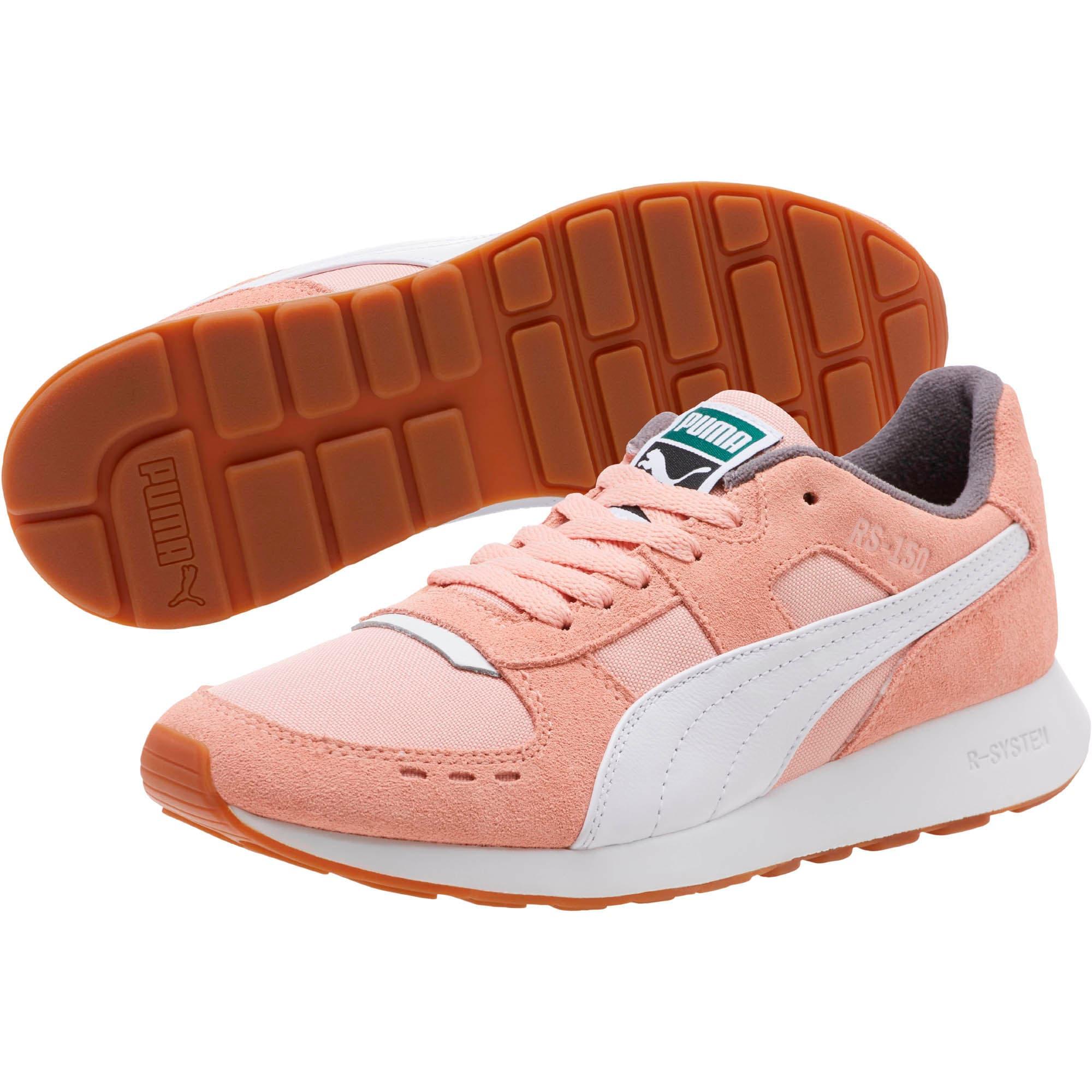 Thumbnail 2 of RS-150 Nylon Women's Sneakers, Coral Cloud-Puma White, medium