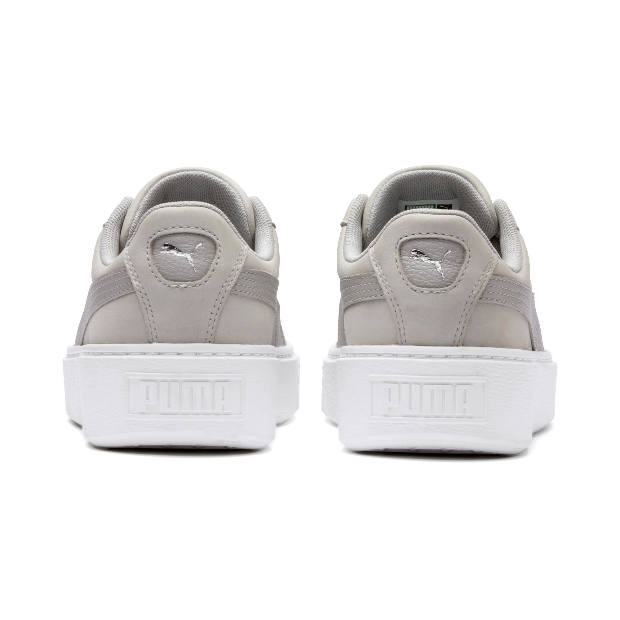 Thumbnail 4 of Suede Platform Shimmer Women's Sneakers, Gray Violet-Puma White, medium