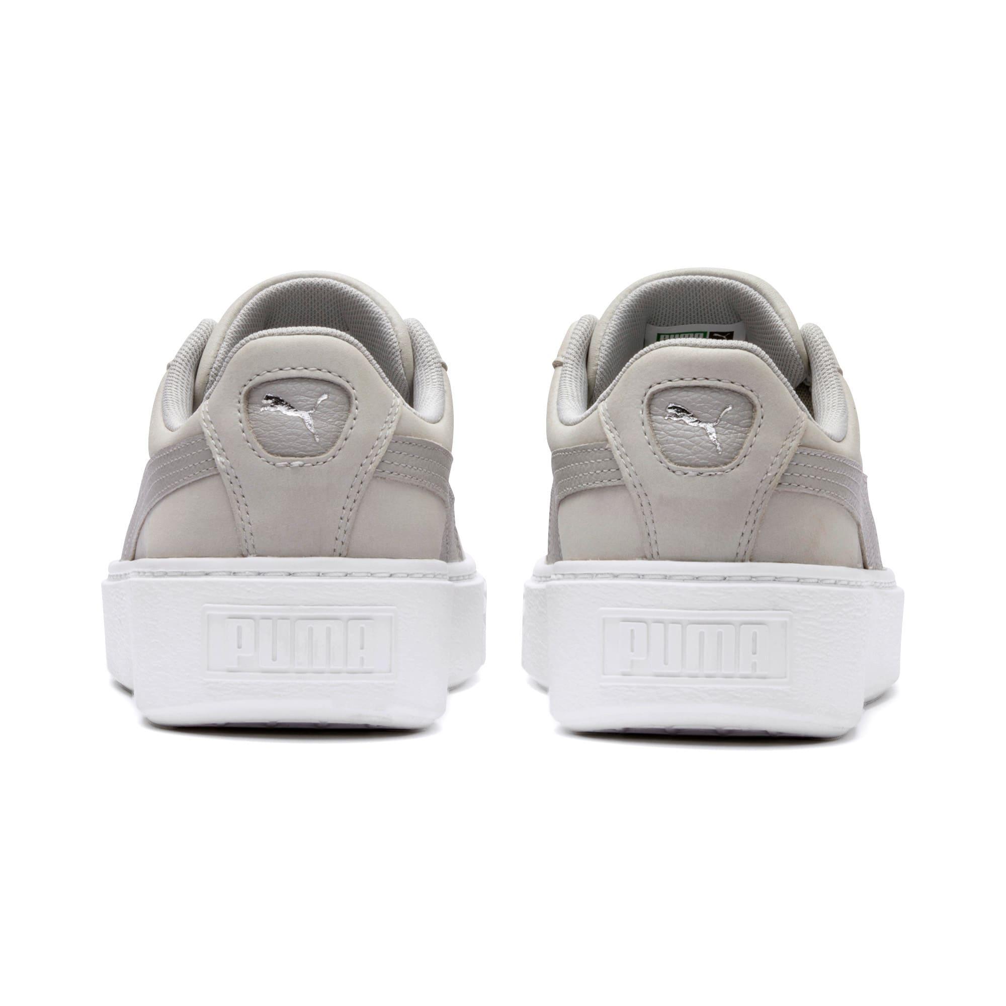 Thumbnail 4 of Suede Platform Shimmer Women's Sneakers, Gray Violet-Puma White, medium