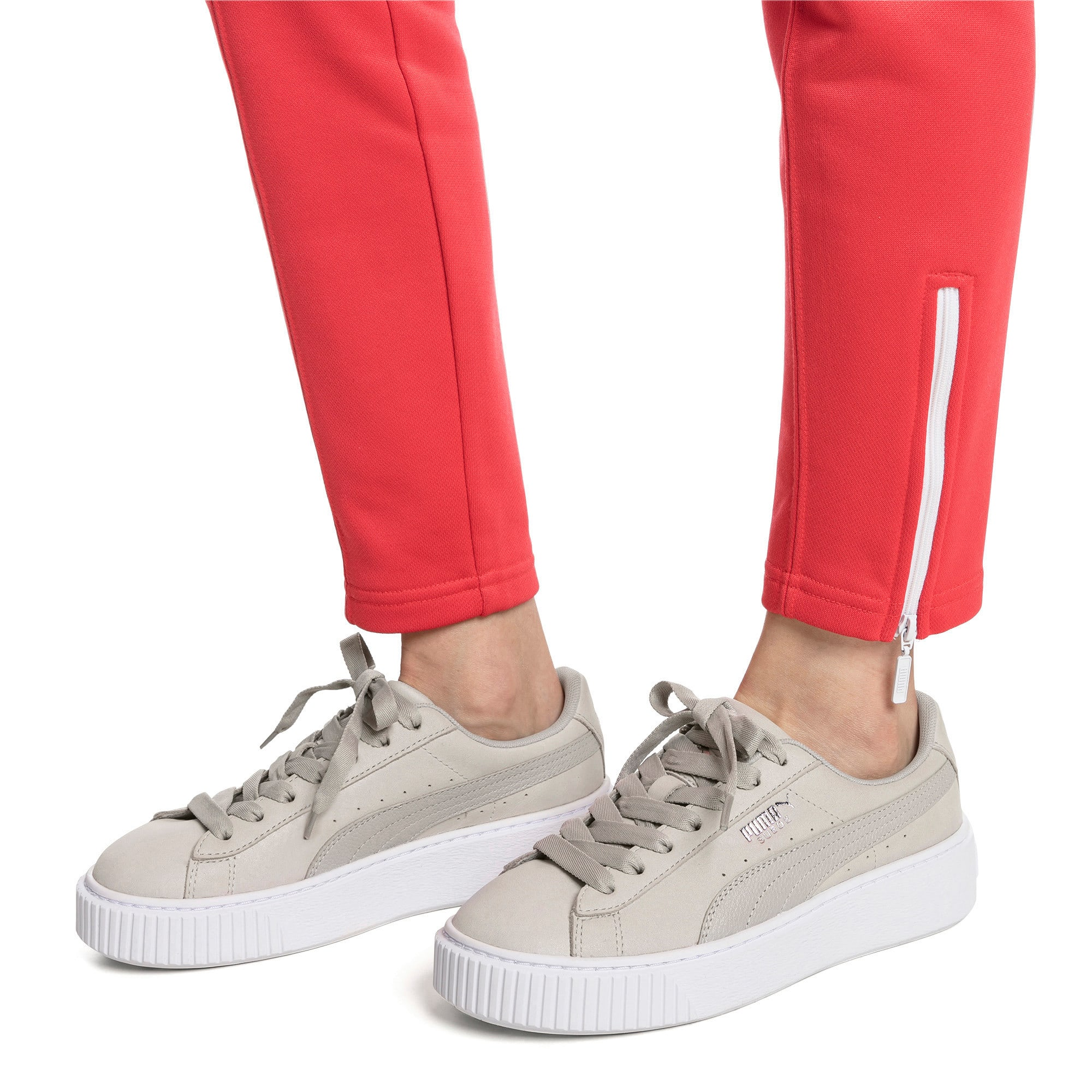 Thumbnail 2 of Suede Platform Shimmer Women's Sneakers, Gray Violet-Puma White, medium
