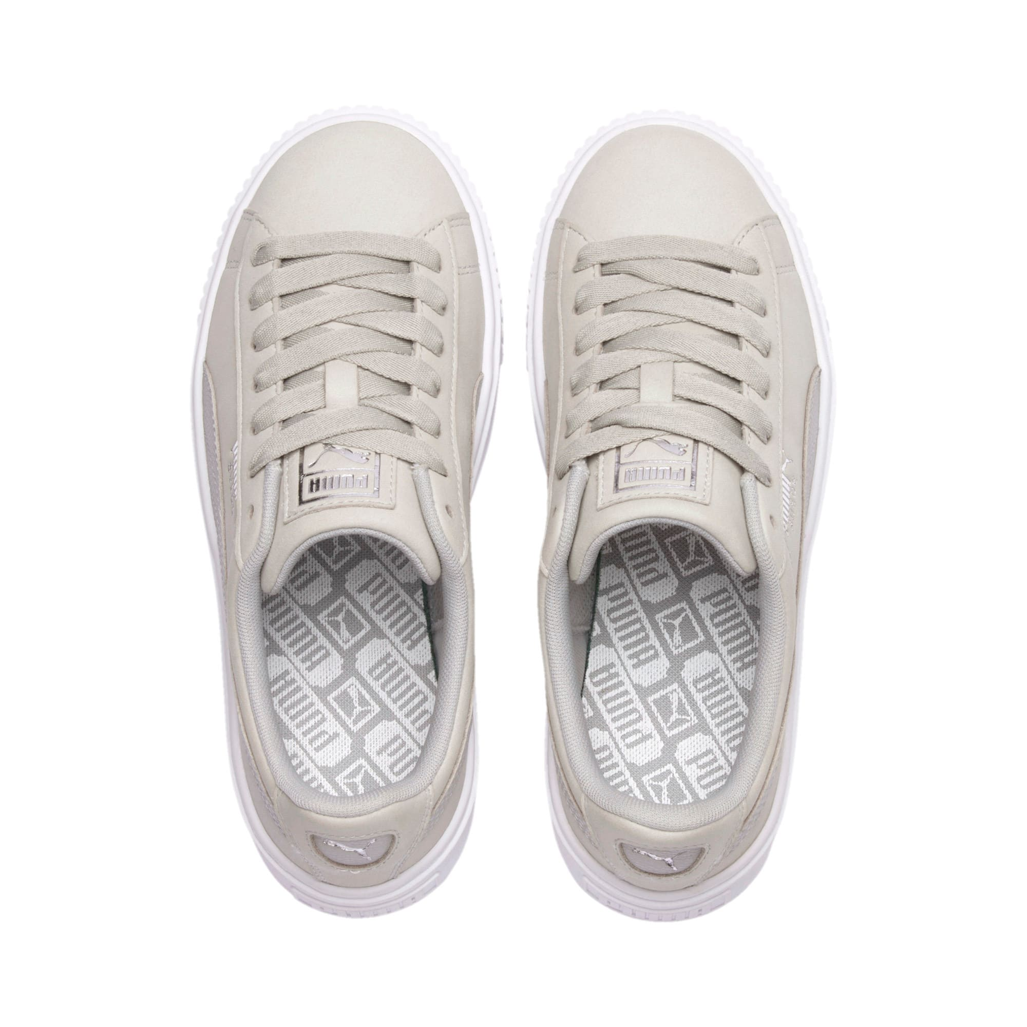 Thumbnail 7 of Suede Platform Shimmer Women's Sneakers, Gray Violet-Puma White, medium