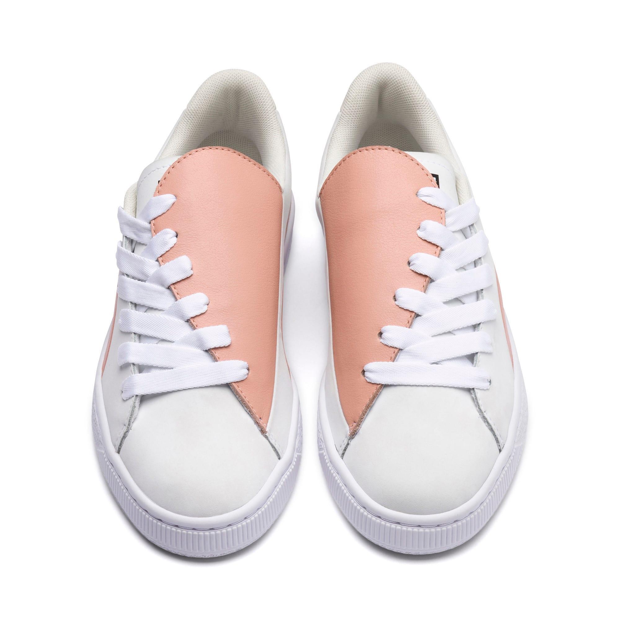 Thumbnail 2 of Basket Crush Paris Women's Sneakers, Peach Beige-Puma White, medium