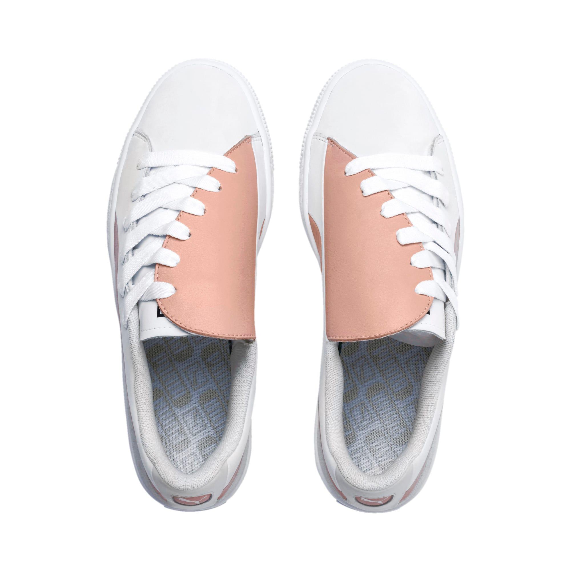 Thumbnail 7 of Basket Crush Paris Women's Sneakers, Peach Beige-Puma White, medium