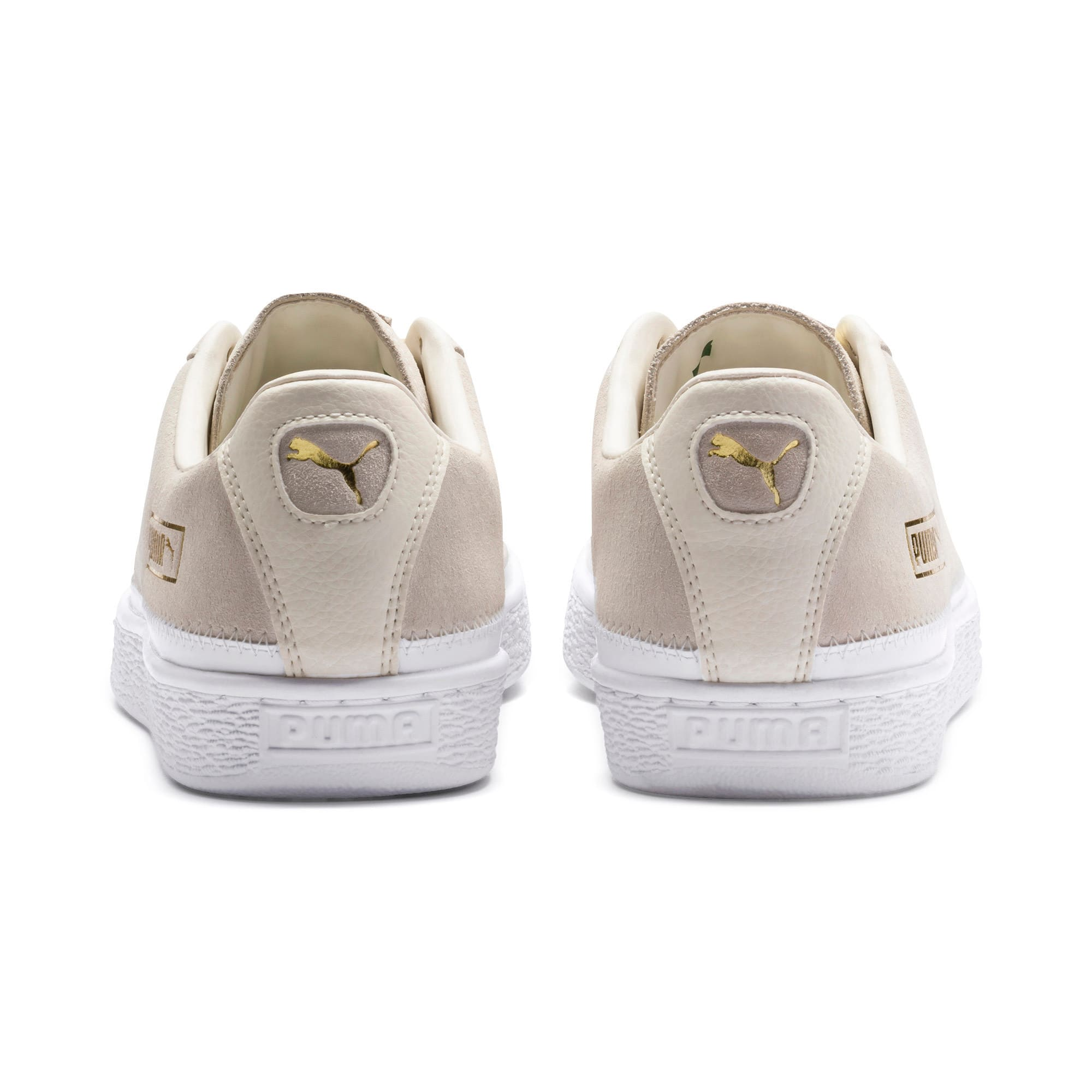 Thumbnail 4 of Suede Trim Sneaker, Whisper White-White- Gold, medium