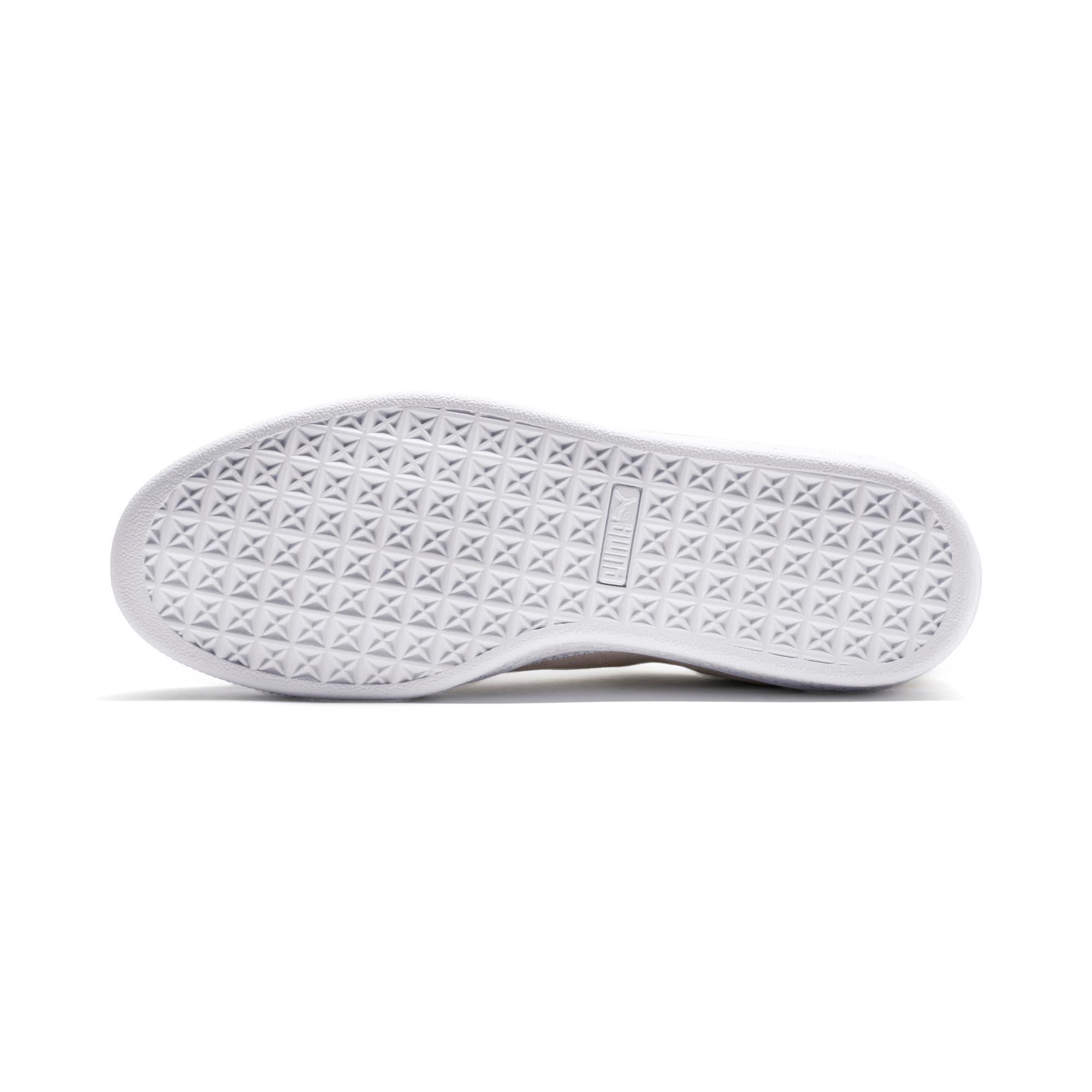 Thumbnail 5 of Suede Trim Sneaker, Whisper White-White- Gold, medium