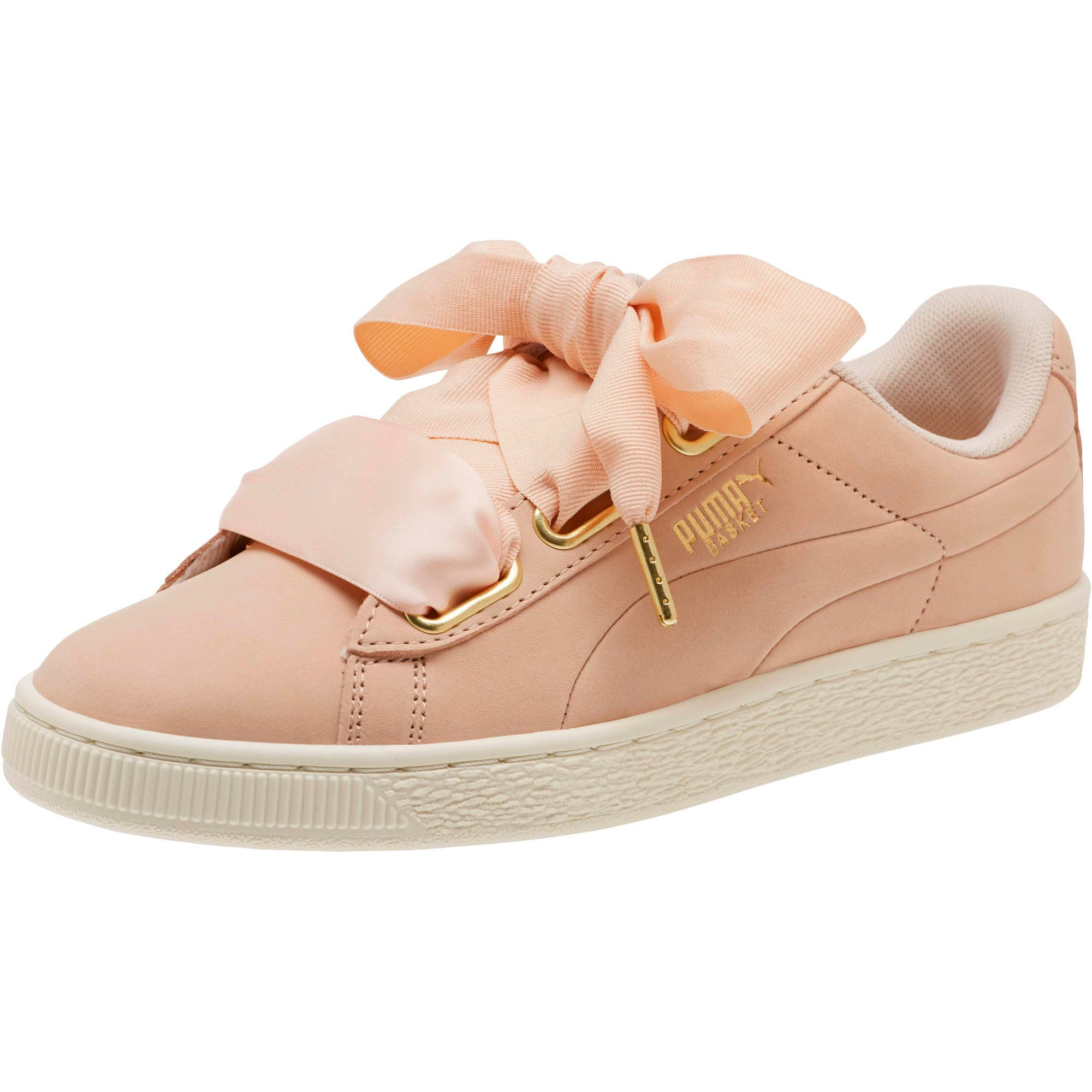 Thumbnail 1 of Basket Heart Soft Women's Sneakers, Cream Tan-Marshmallow, medium