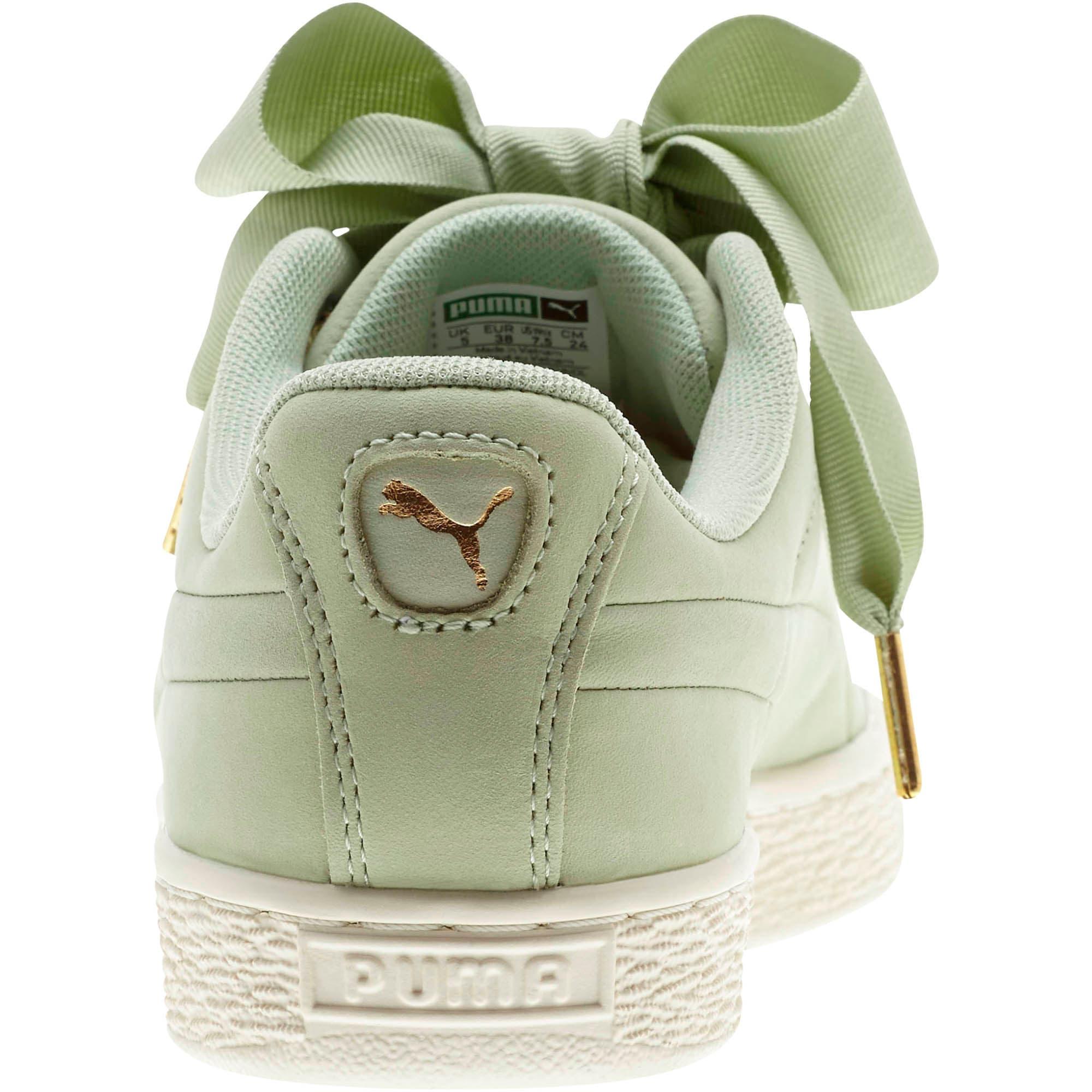 Thumbnail 3 of Basket Heart Soft Women's Sneakers, Smoke Green-Marshmallow, medium