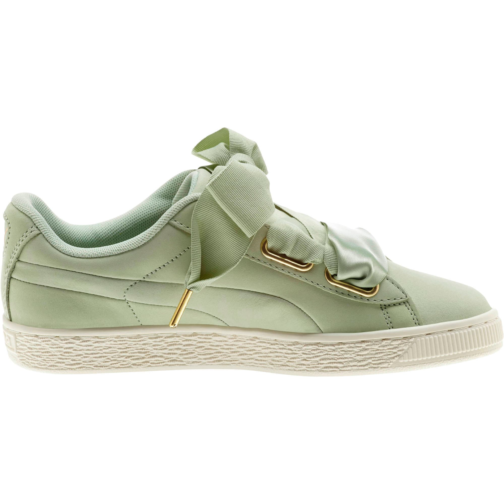 Thumbnail 4 of Basket Heart Soft Women's Sneakers, Smoke Green-Marshmallow, medium