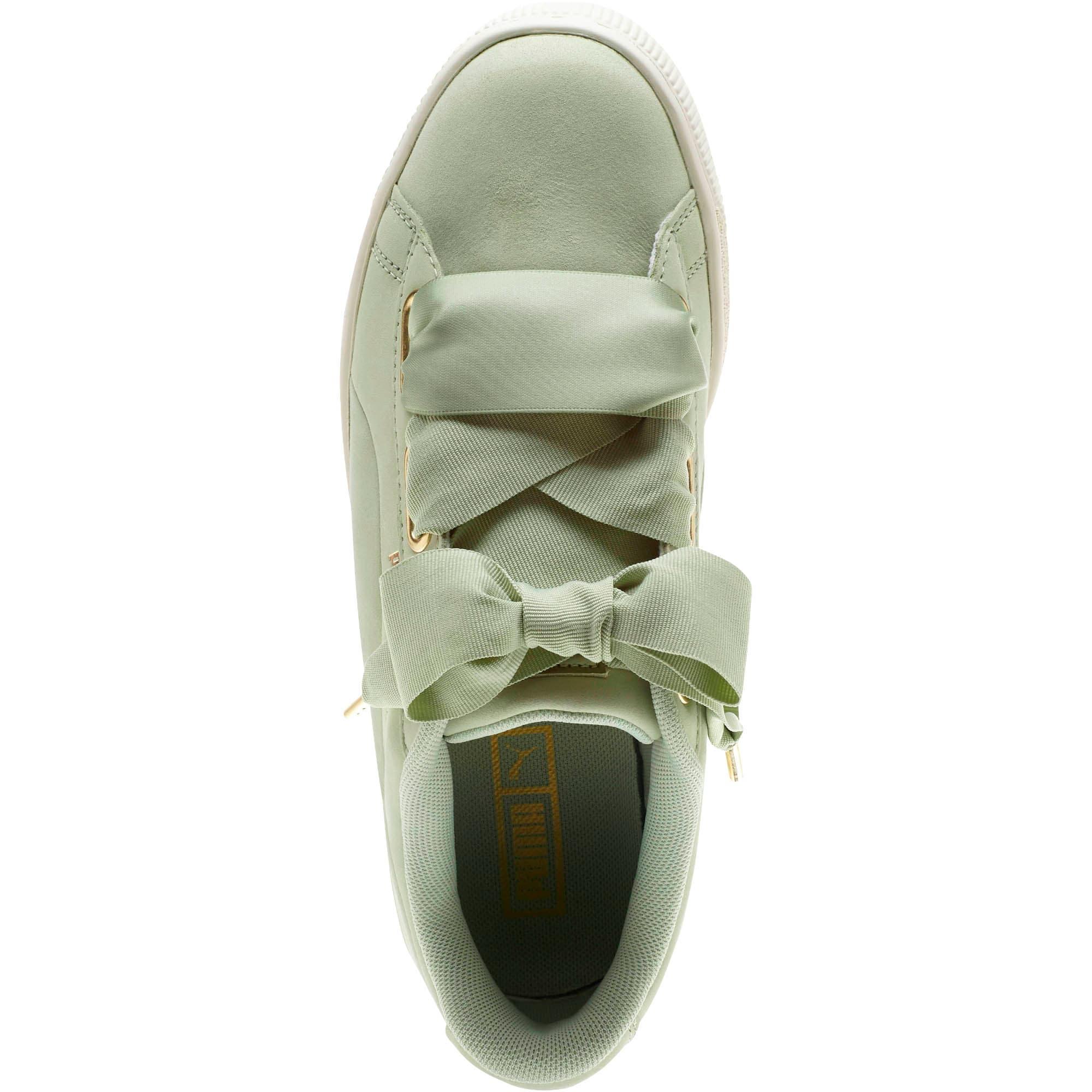 Thumbnail 5 of Basket Heart Soft Women's Sneakers, Smoke Green-Marshmallow, medium