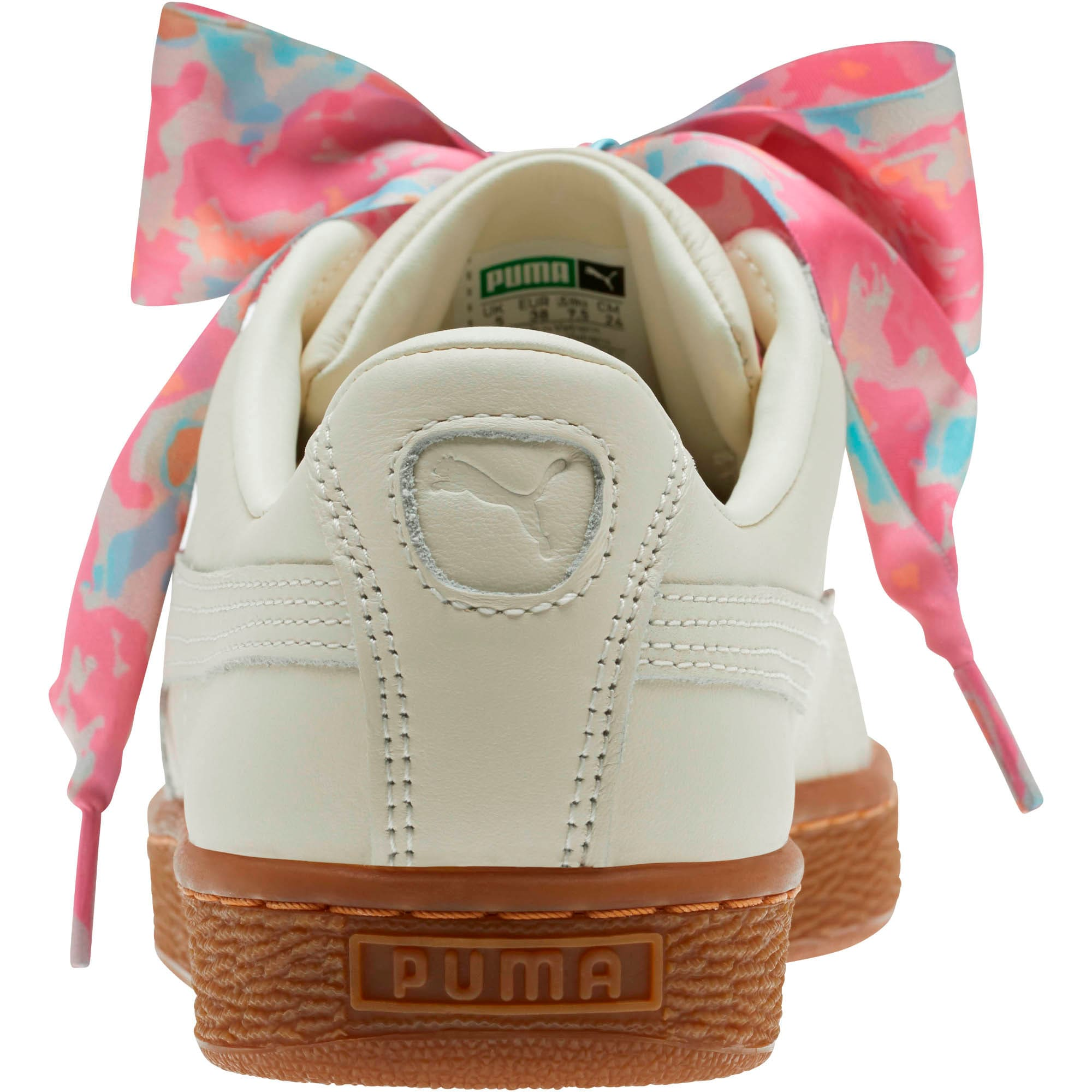 Thumbnail 3 of Basket Heart Wonderland Women's Sneakers, Marshmallow-Puma Team Gold, medium