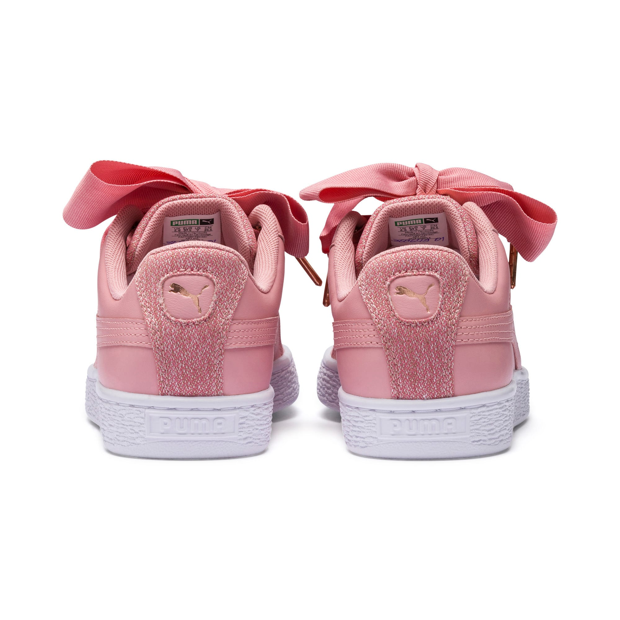 Thumbnail 4 of Basket Heart Woven Rose Women's Sneakers, Bridal Rose-Puma White, medium