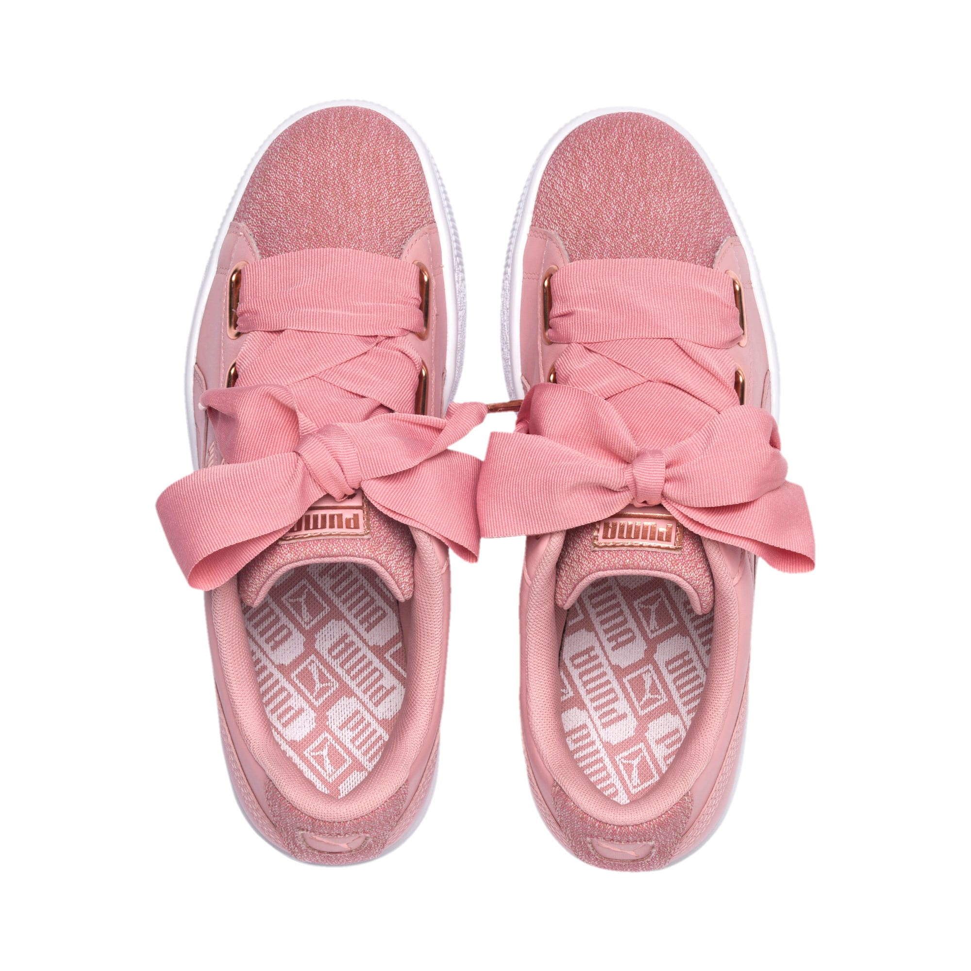 Thumbnail 6 of Basket Heart Woven Rose Women's Sneakers, Bridal Rose-Puma White, medium